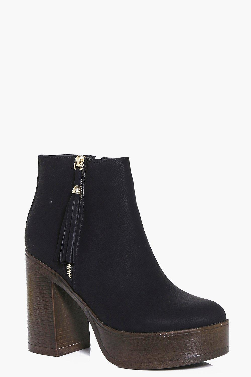Julia Zip Side Platform Boot