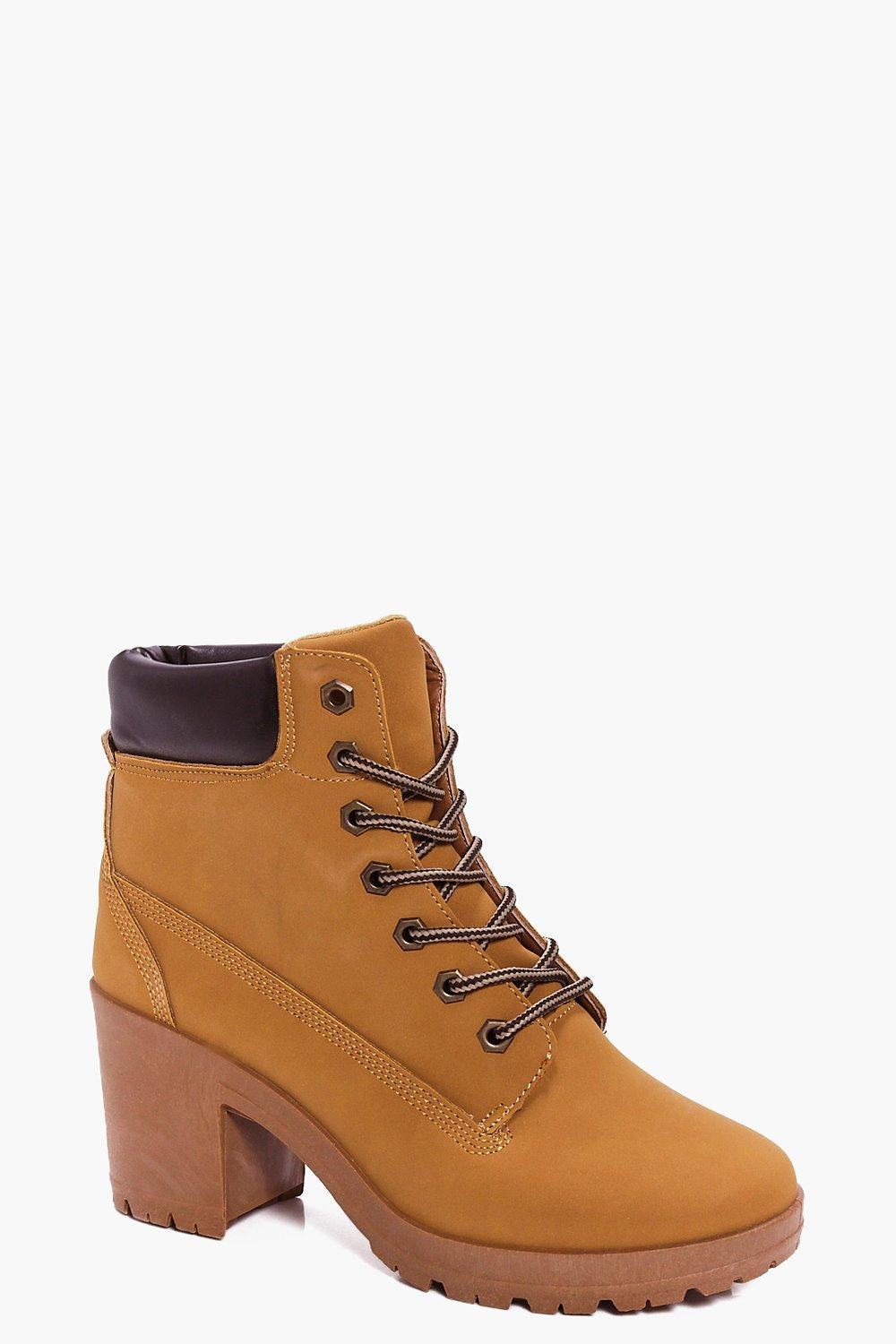 Ellie Heeled Hiker Boot