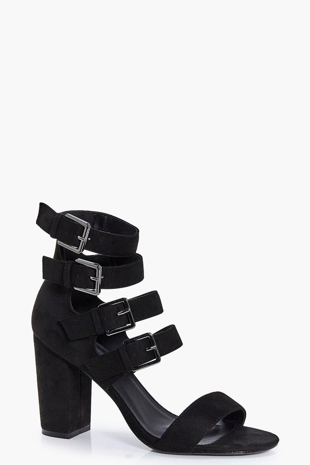 Tilly Multi Buckle Block Heel
