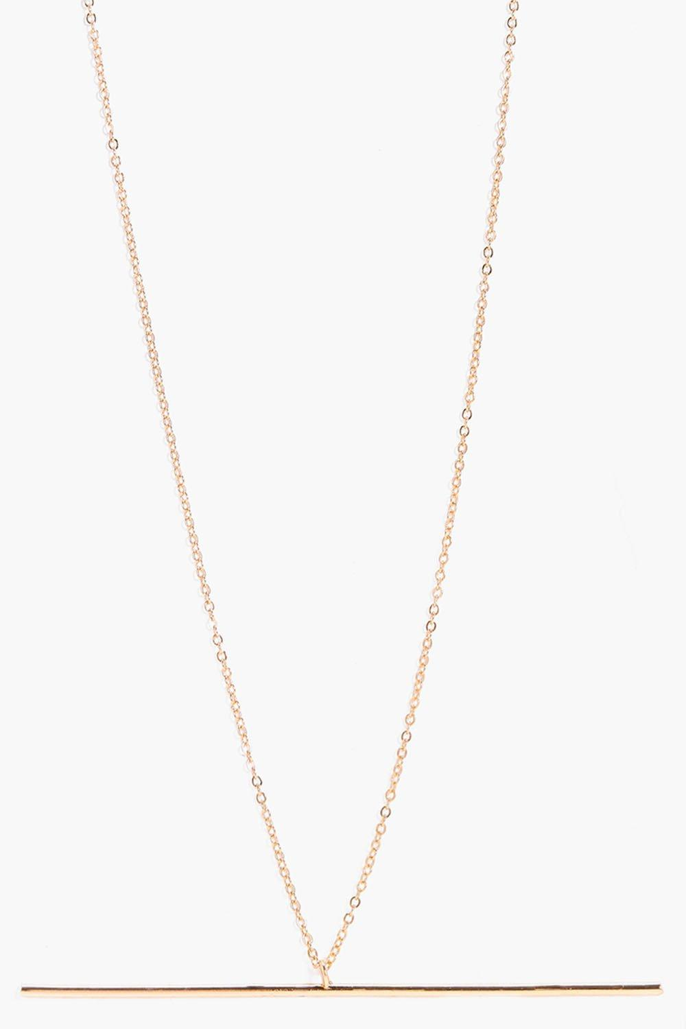Lara Fine Bar Skinny Necklace