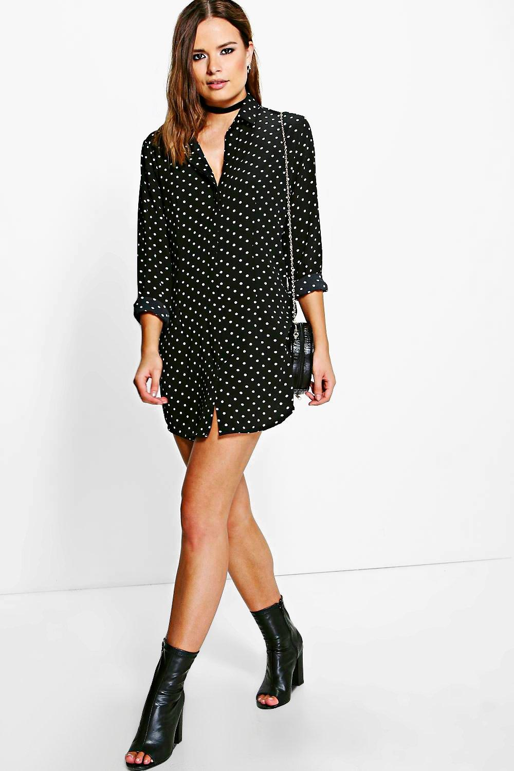Barley Polka Dot Shirt Dress