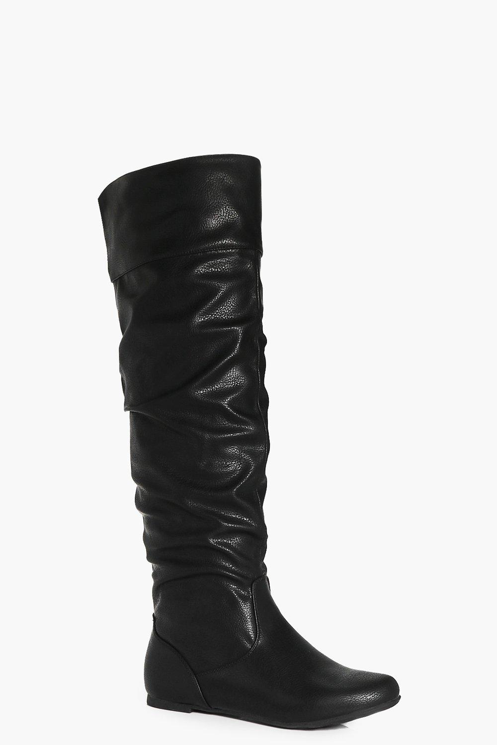 Felicity Ruched Knee High Boot