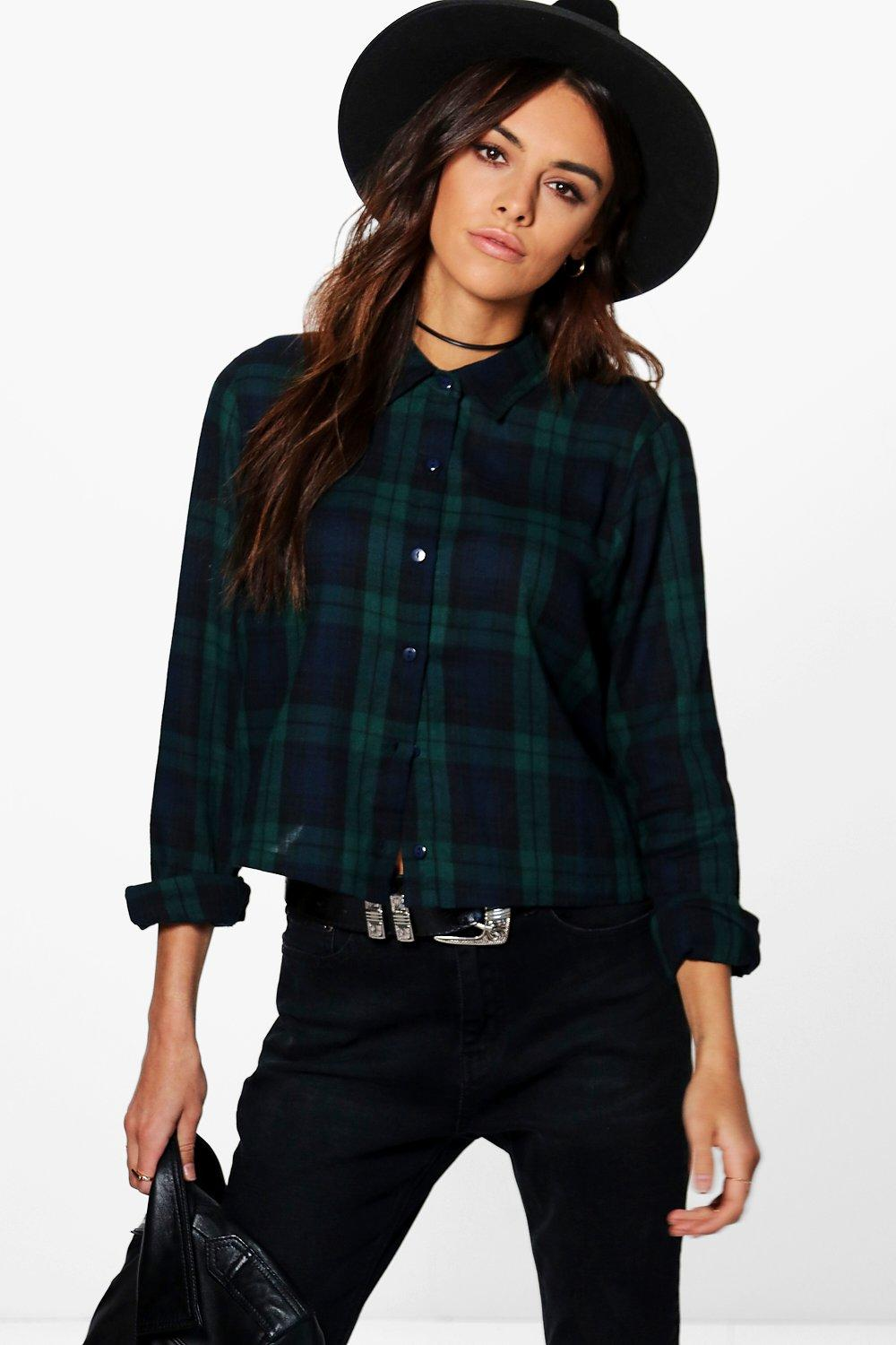 Cailtin Checked Crop Shirt