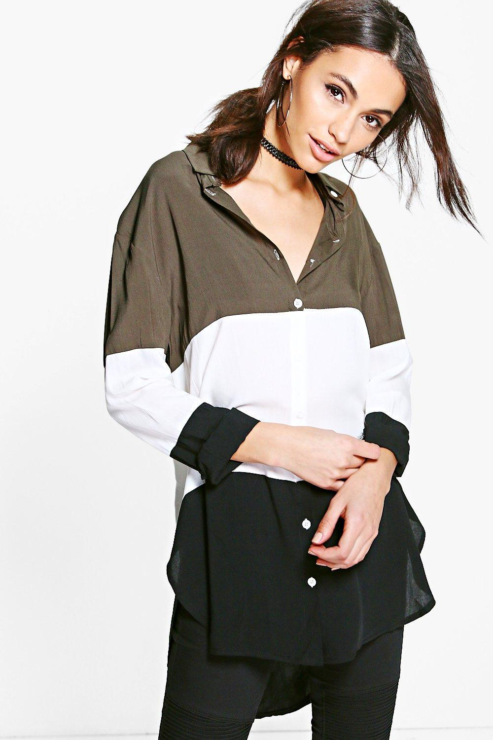 Ava Colour Block Shirt