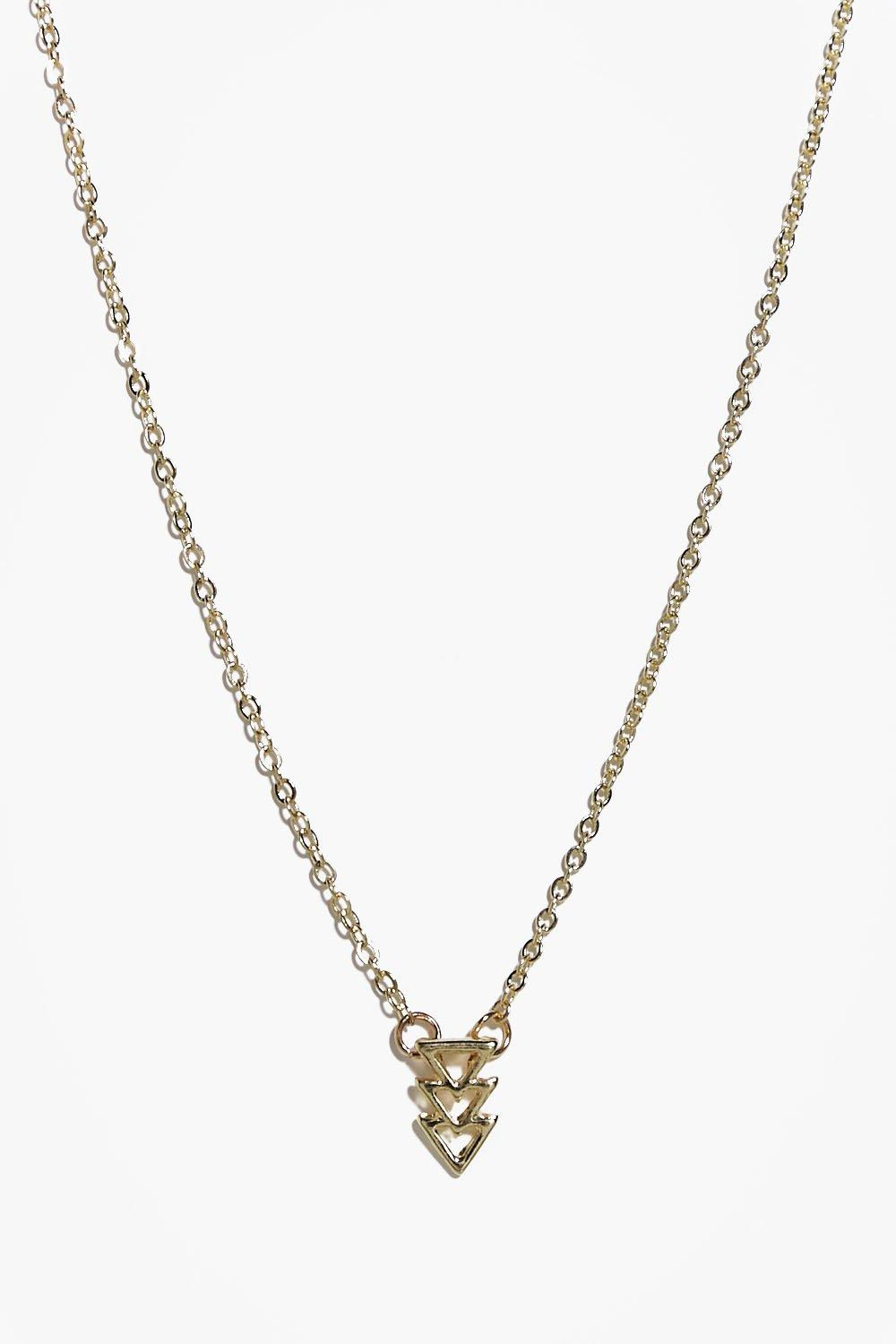 Sadie Mini Triangle Charm Skinny Necklace