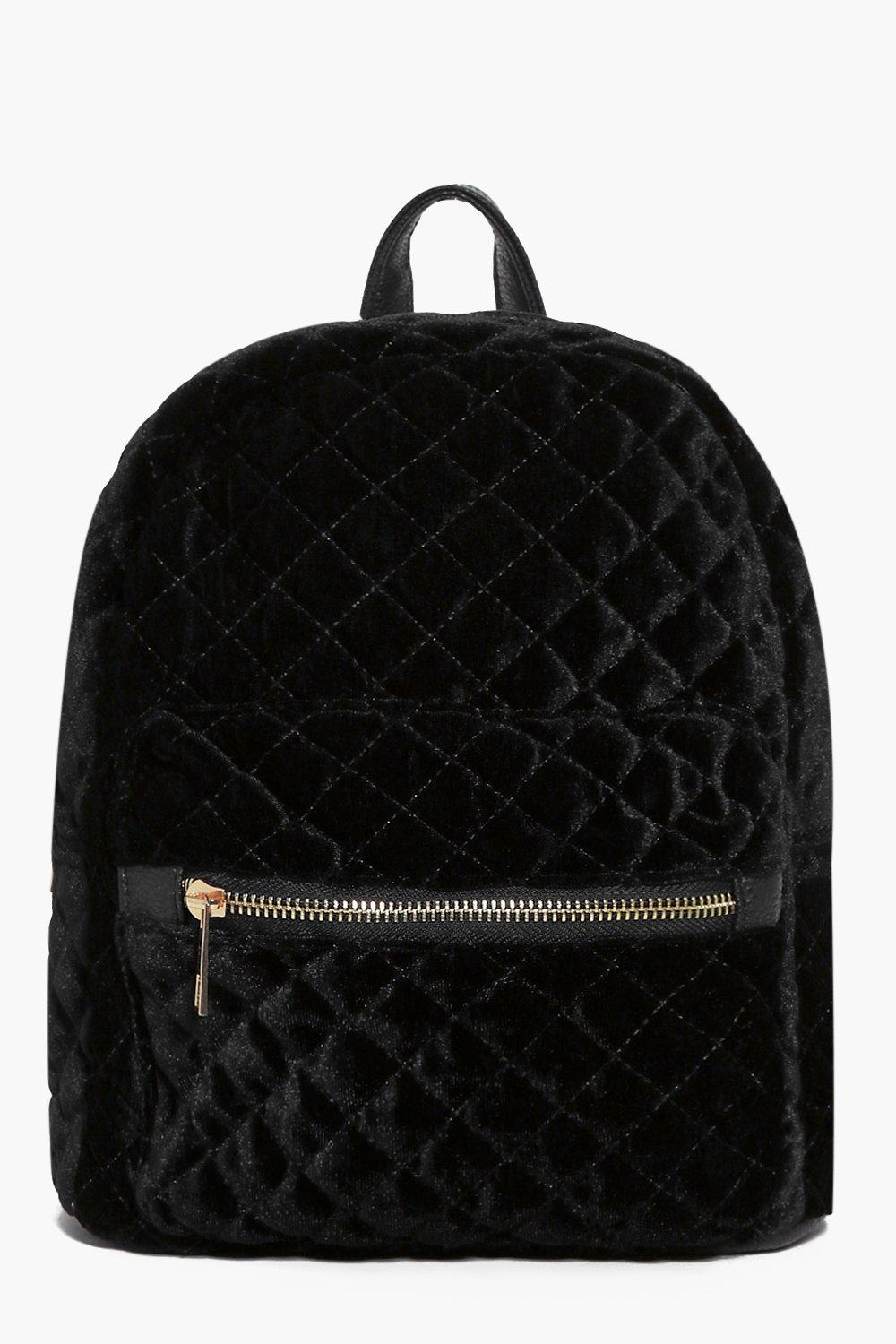 Phoebe Quilted Velvet Backpack