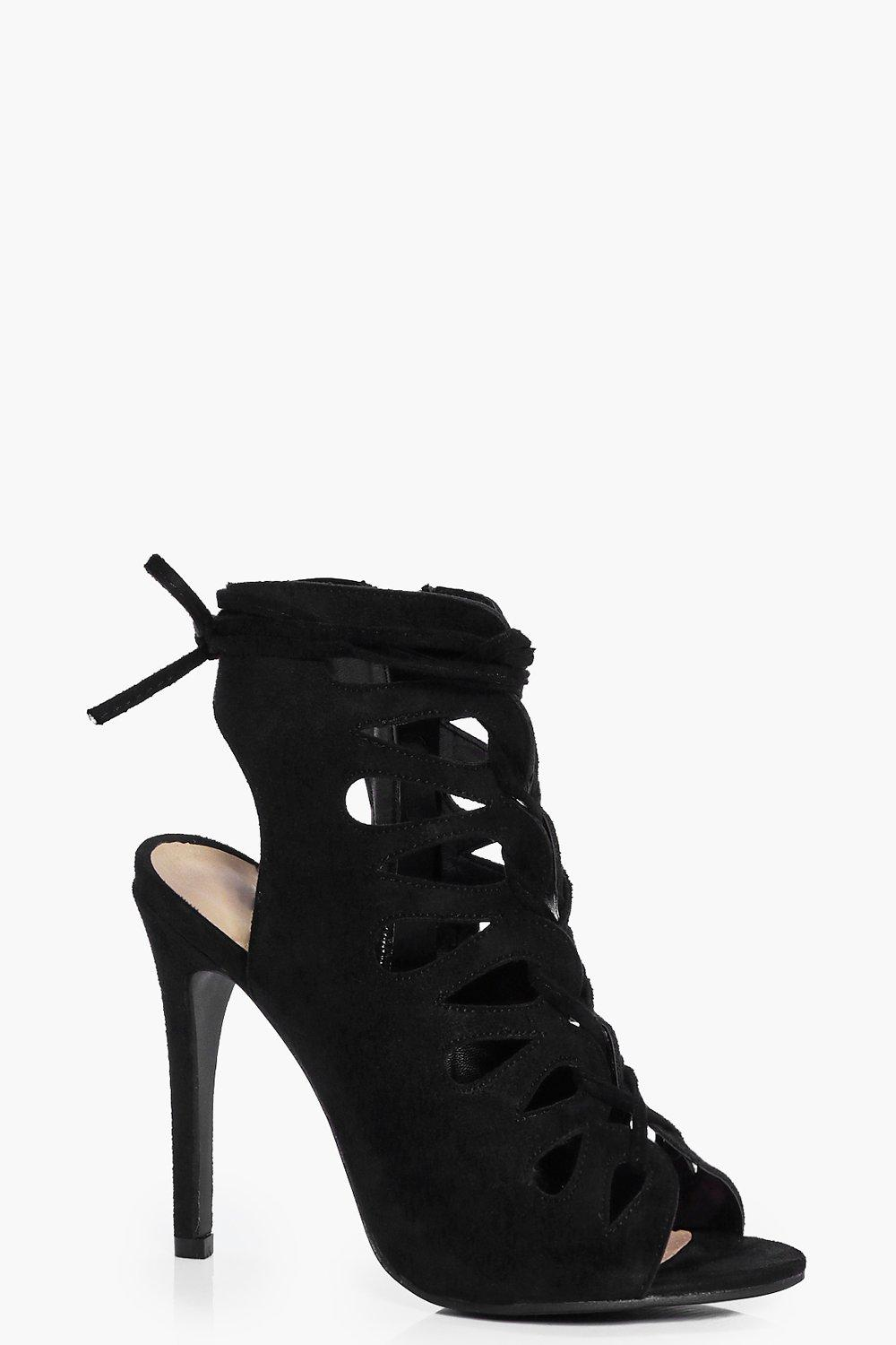 Harriet Peeptoe Lace Up Heels