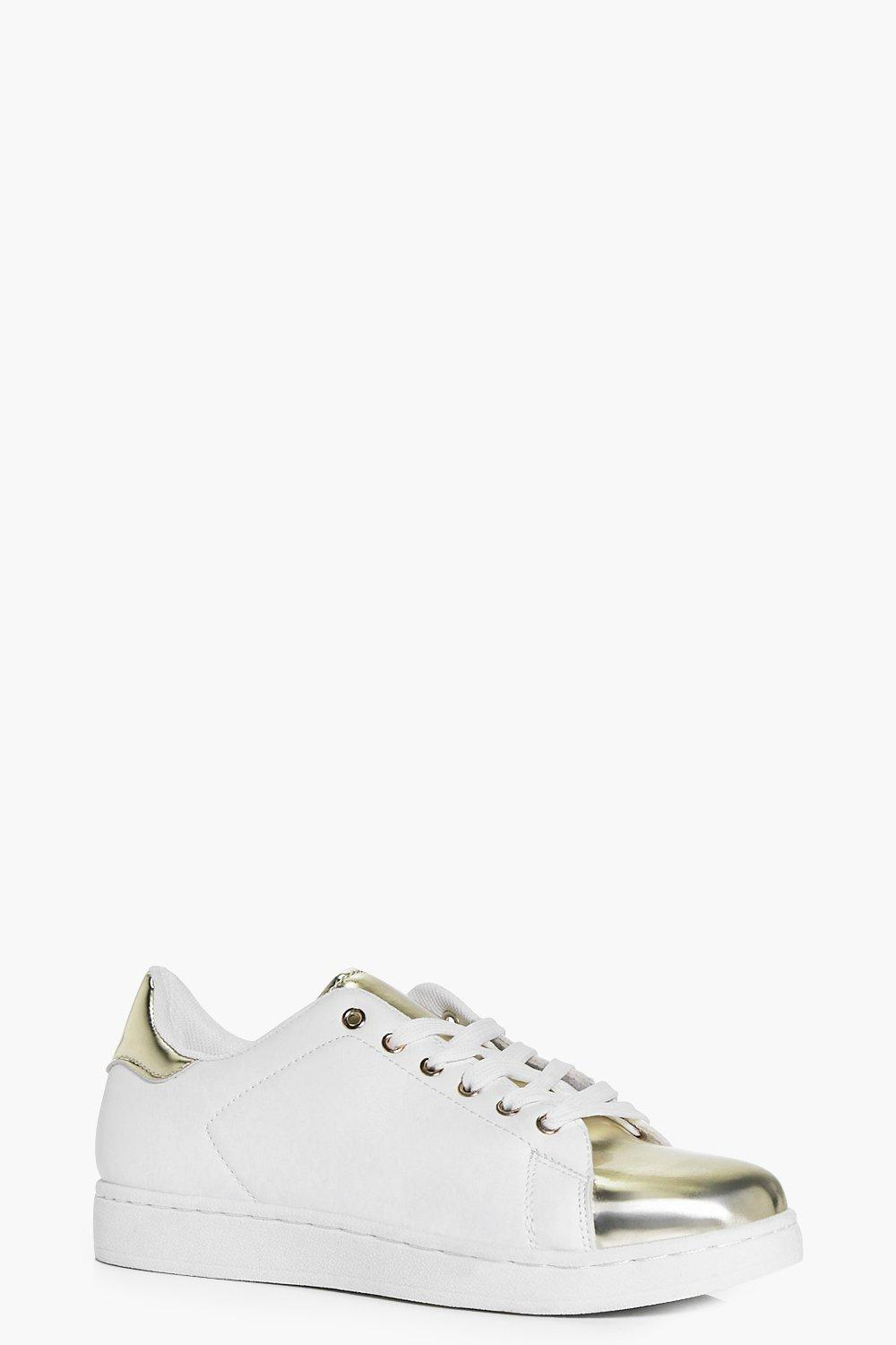 Lucy Metallic Toe Cap Trainer
