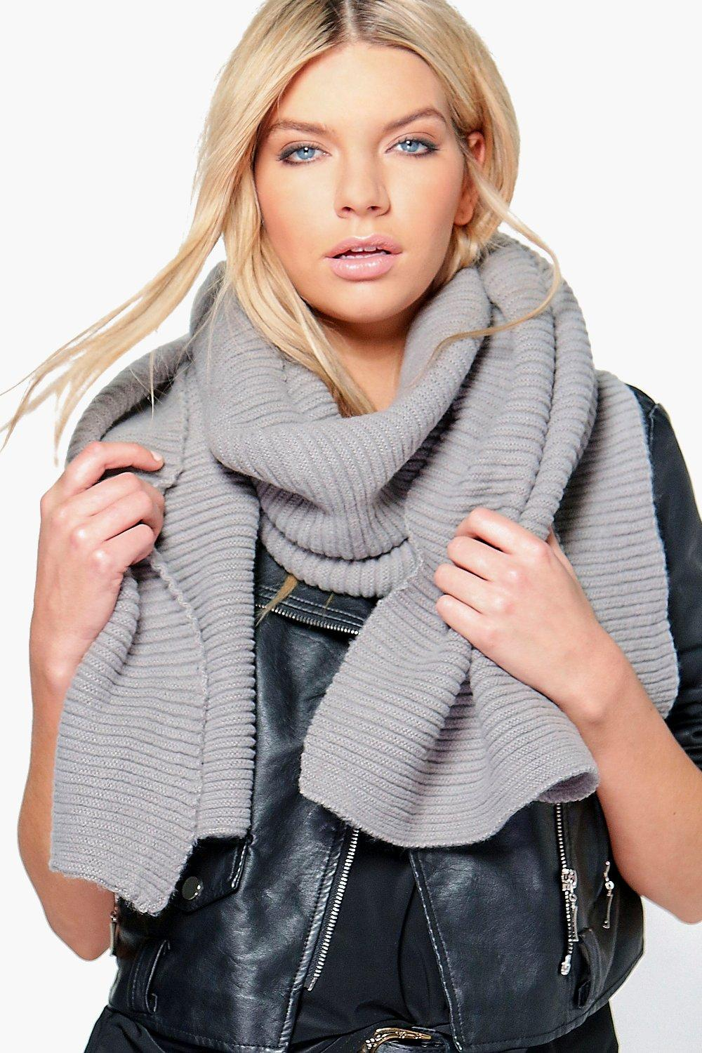 Sadie Chunky Ribbed Wool Oversized Scarf