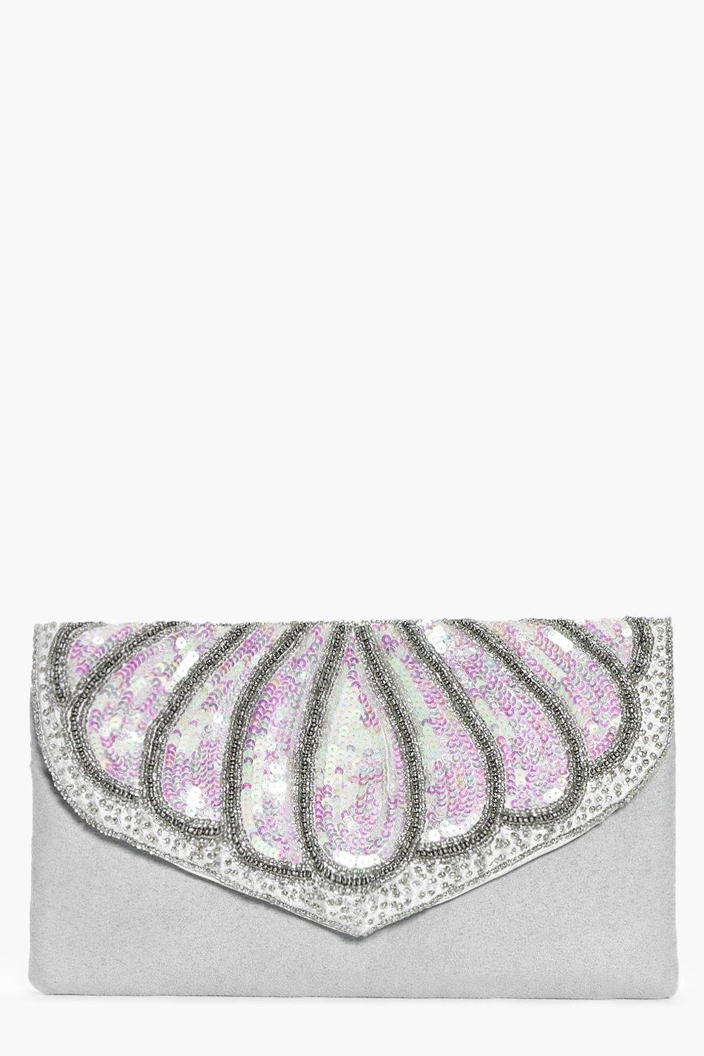 Emma Boutique Mermaid Sequin Clutch Bag