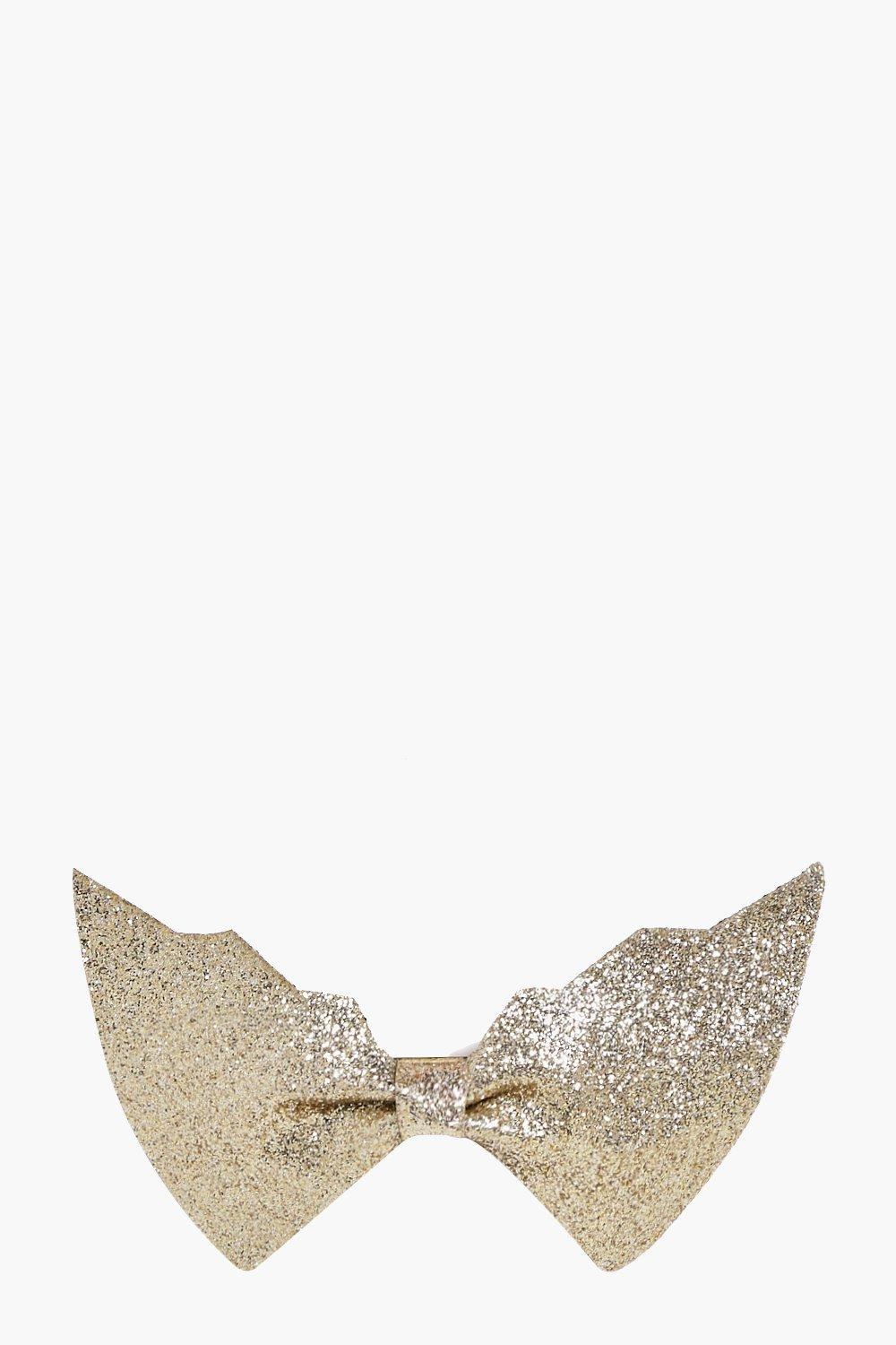 Julia Halloween Bat Glitter Hair Clip