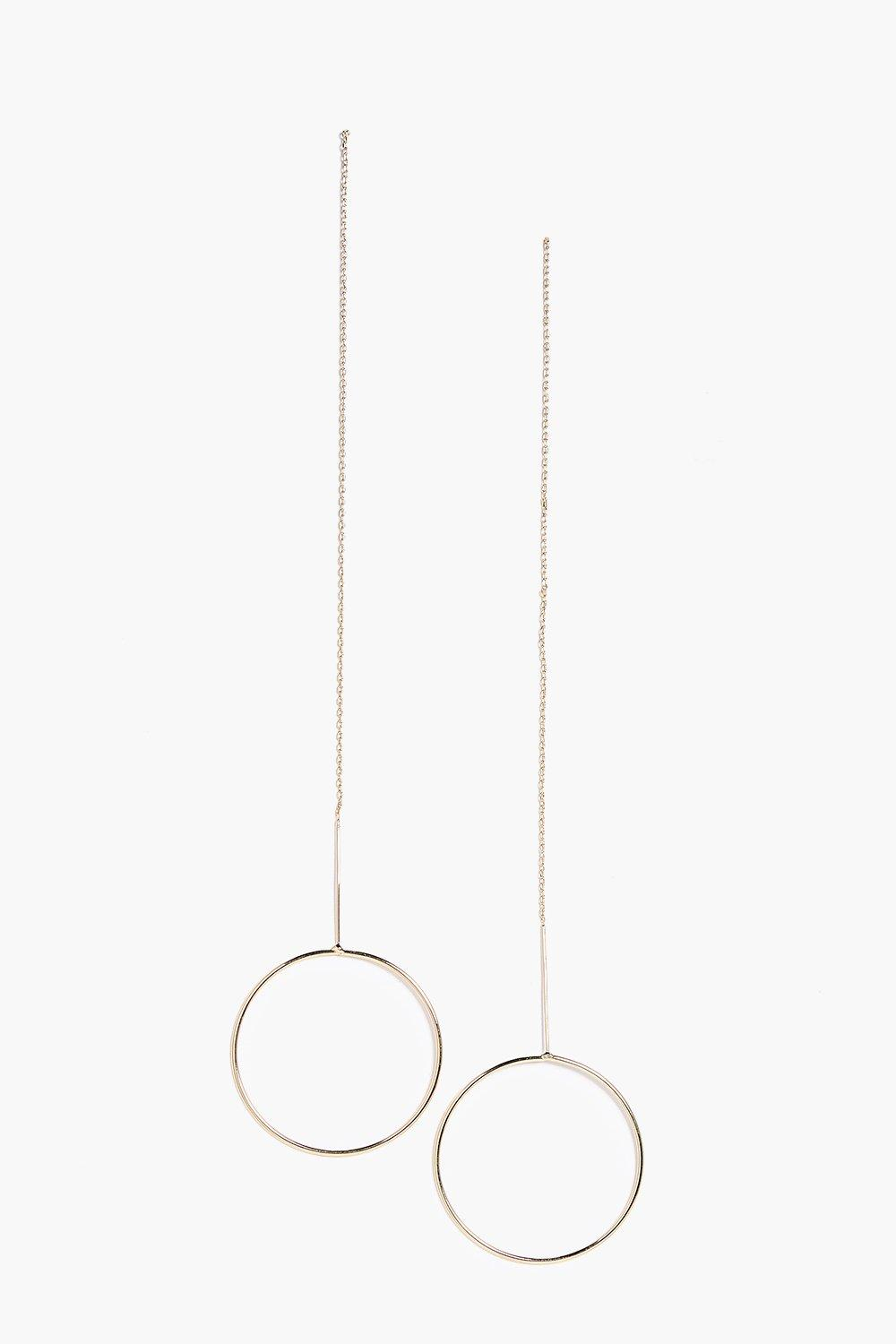 Phoebe Long Chain Circle Earring