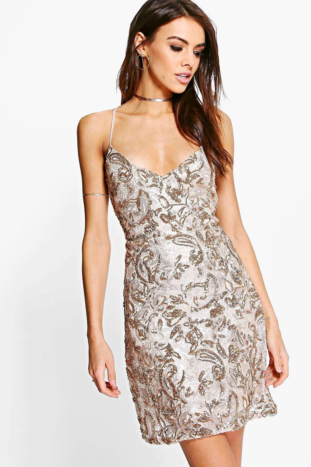 Boutique Rezy Sequin Bodycon Dress at boohoo.com