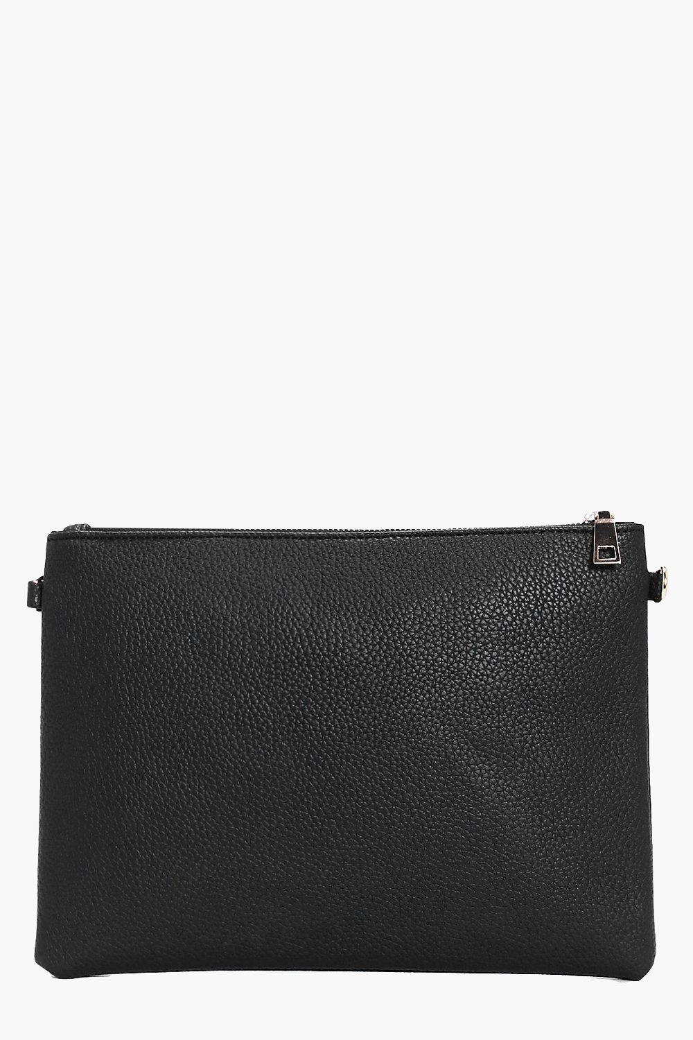 Faye Reversible Suedette and PU Clutch Bag