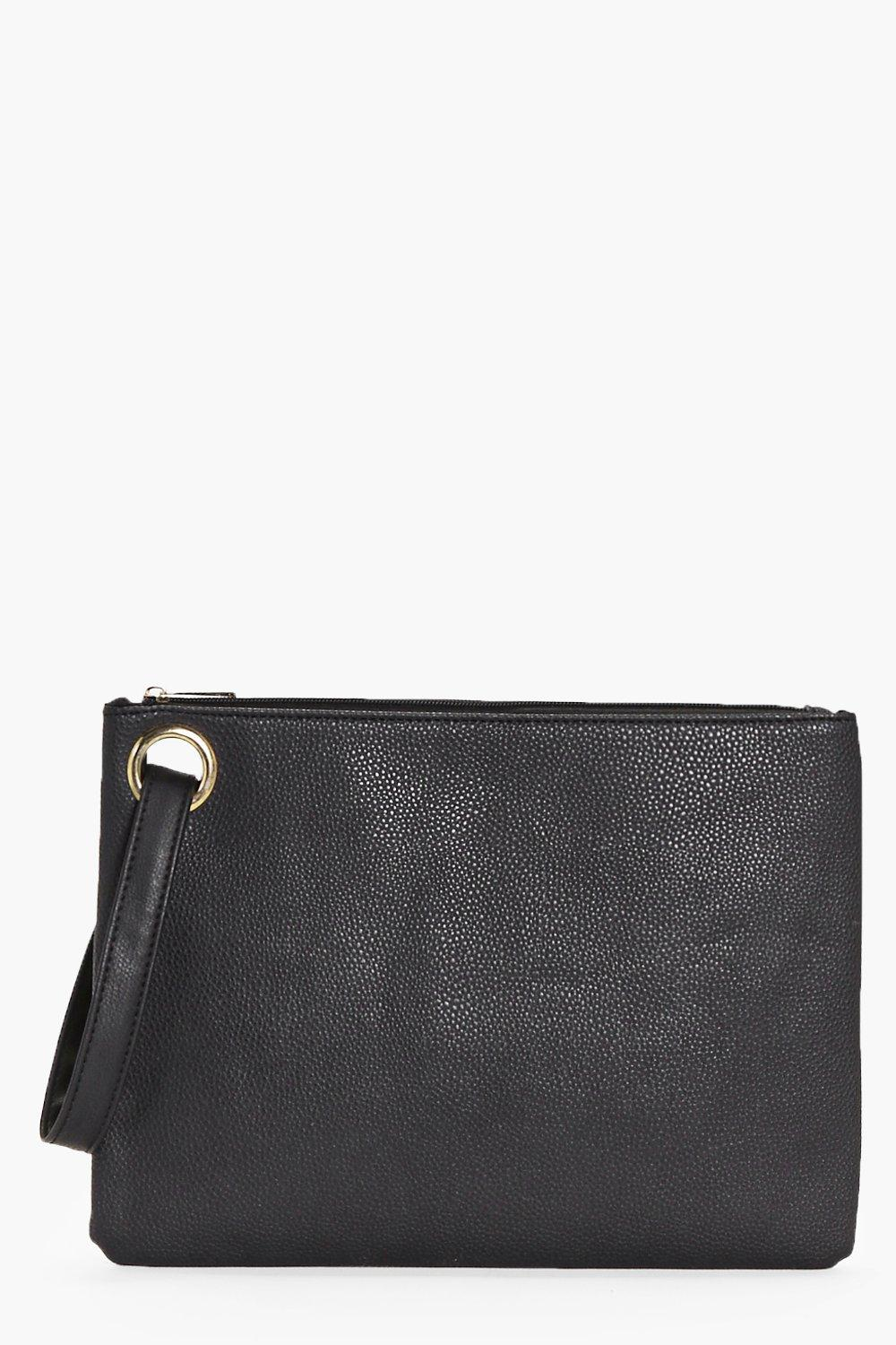 Lillie Loop and Hand Strap Detail Clutch Bag