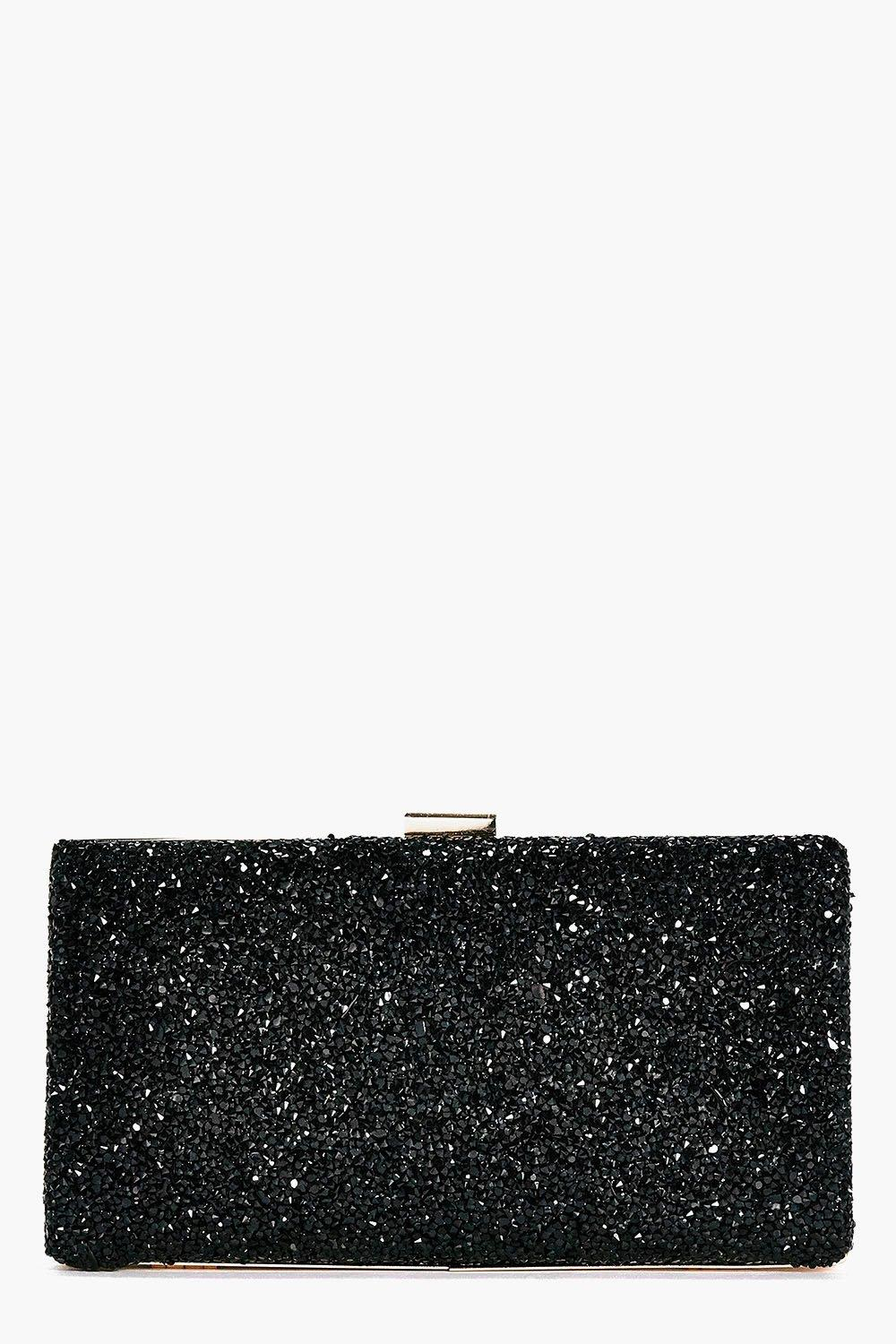 Melissa Embellished Box Clutch Bag