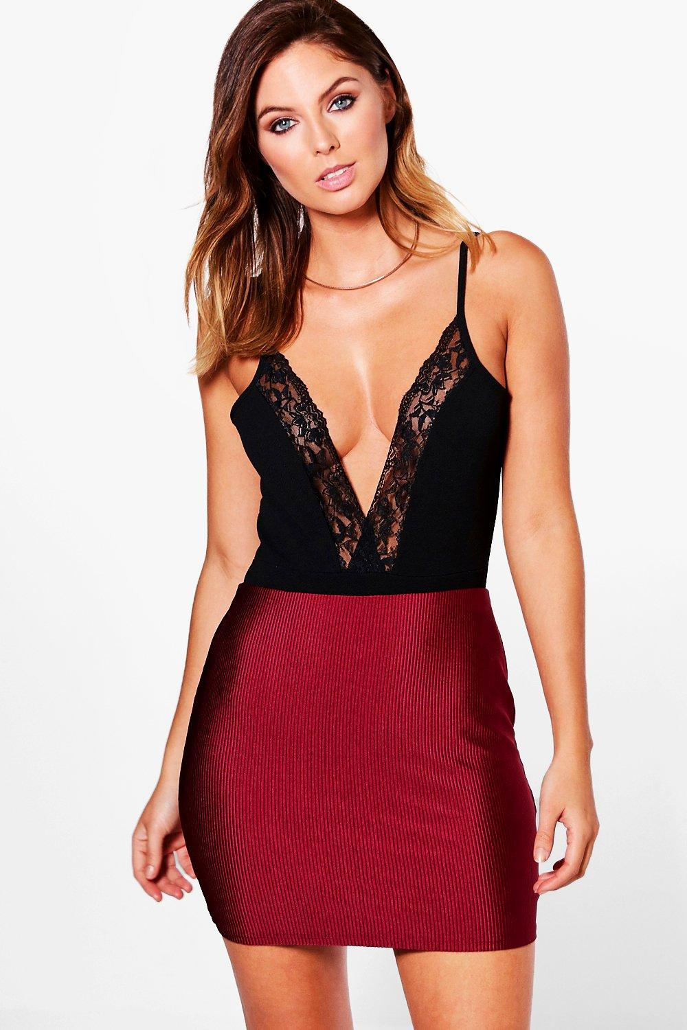 Luella Disco Rib Mini Skirt