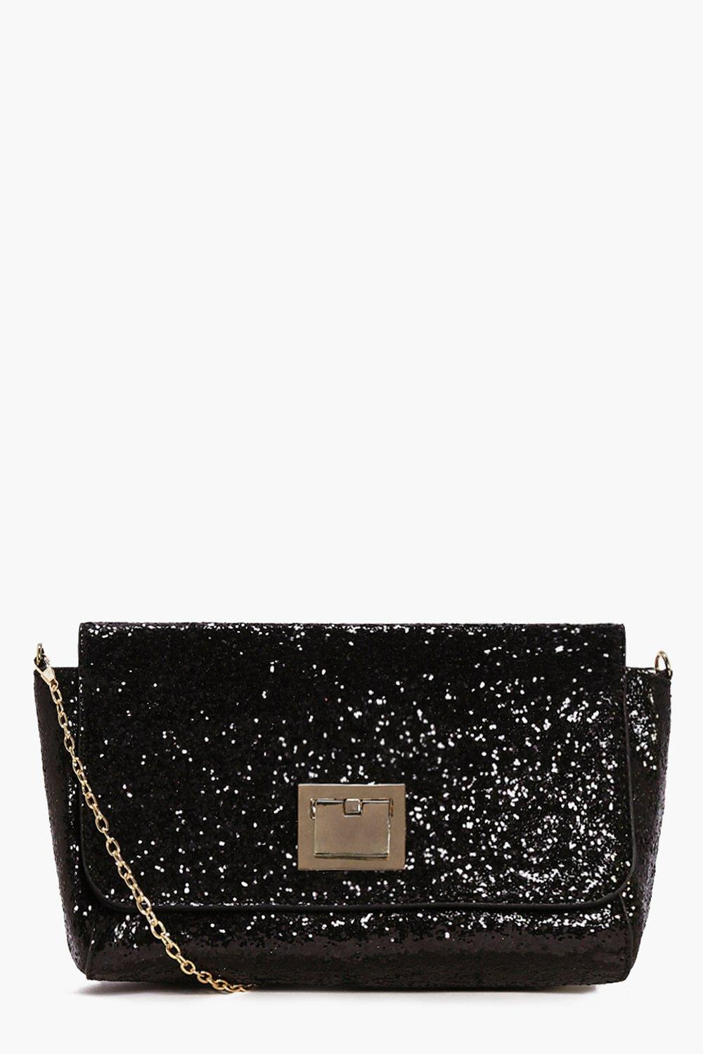 Maya Glitter Metal Clasp Cross Body Bag