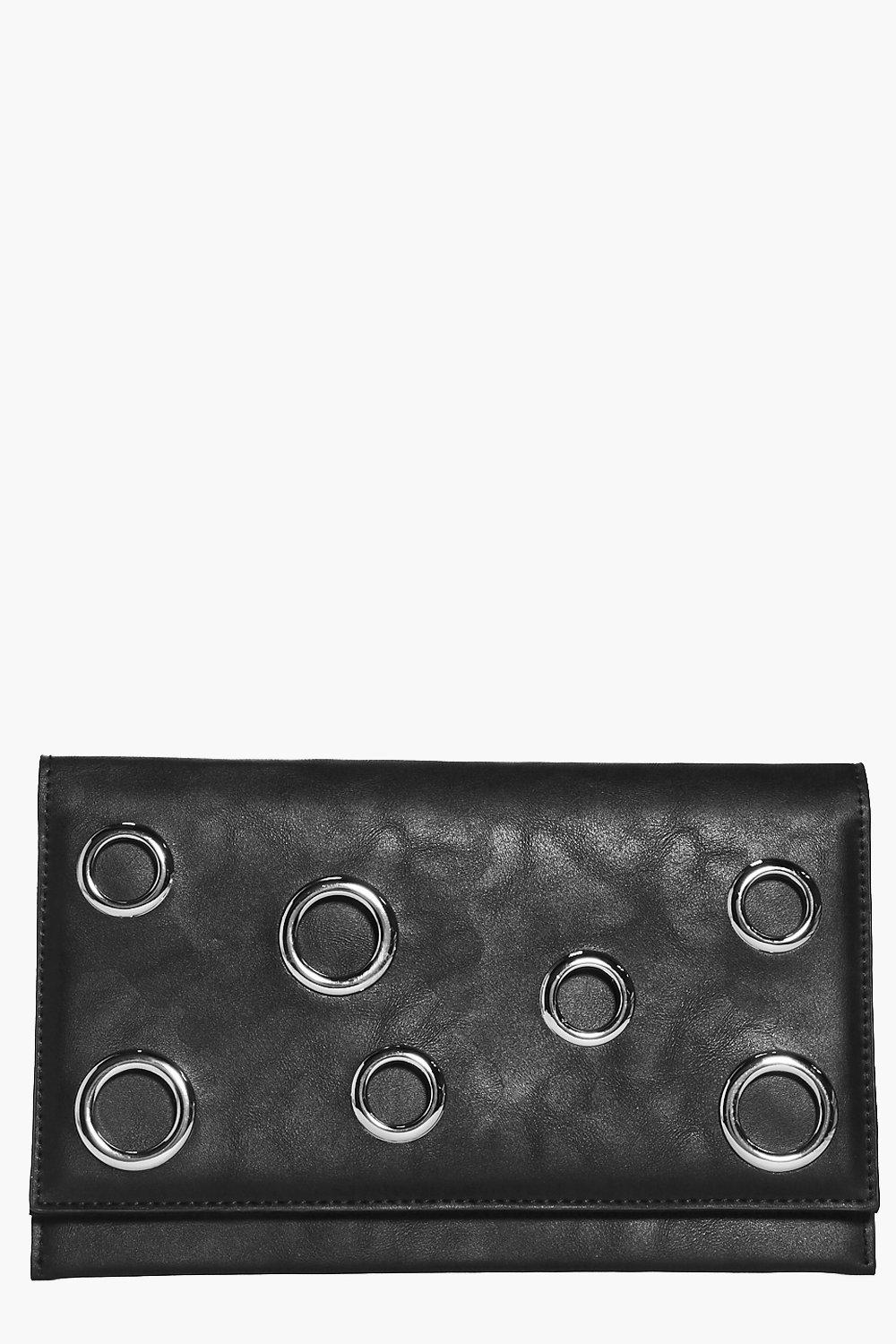 Tilly Eyelet Detail Fold Over Clutch Bag