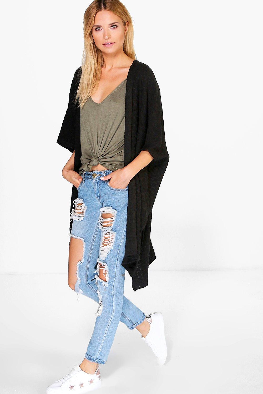 Mia Soft Knit Cape Cardigan