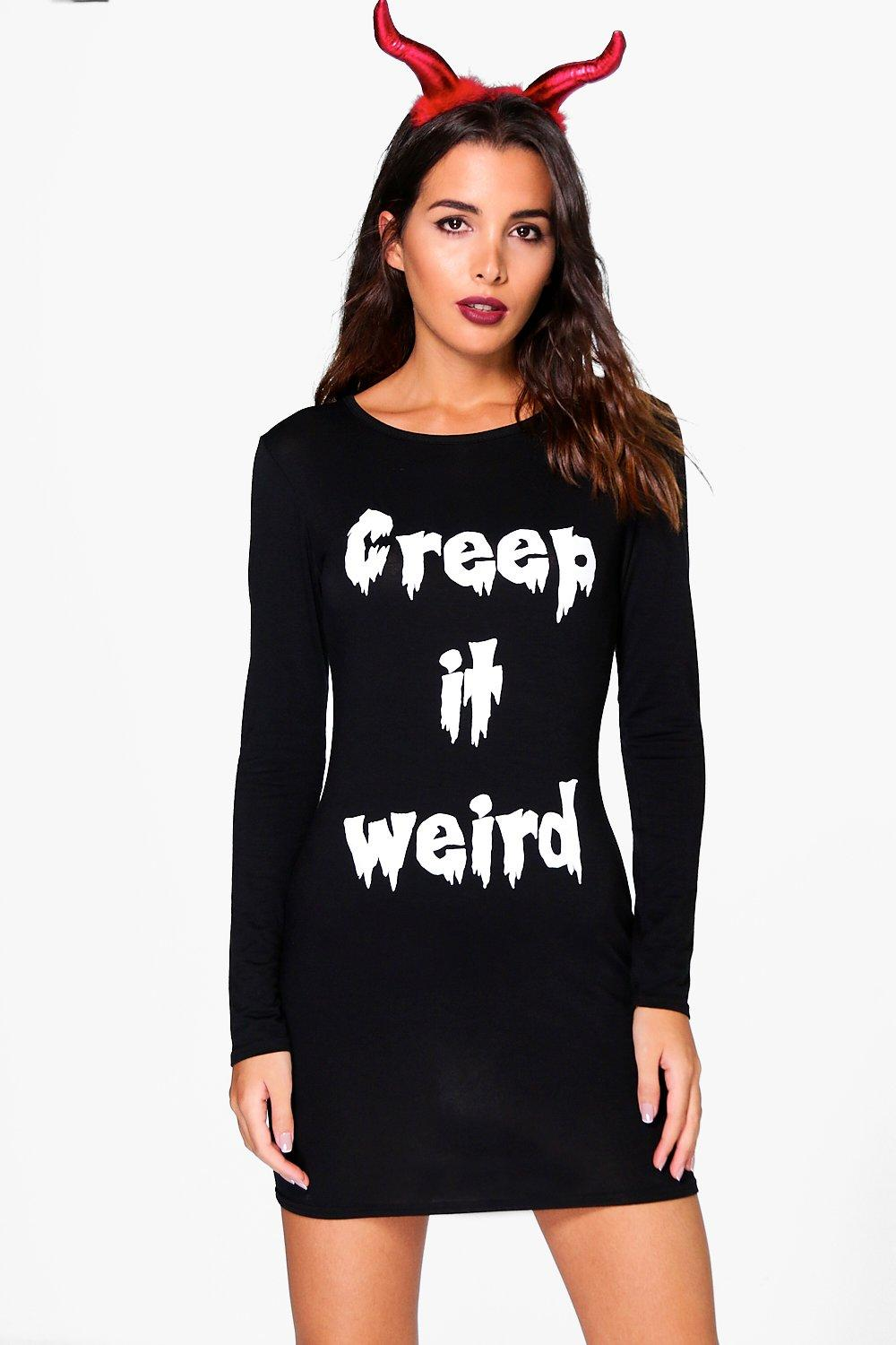 Hannah Halloween Creep Long Sleeve Bodycon Dress