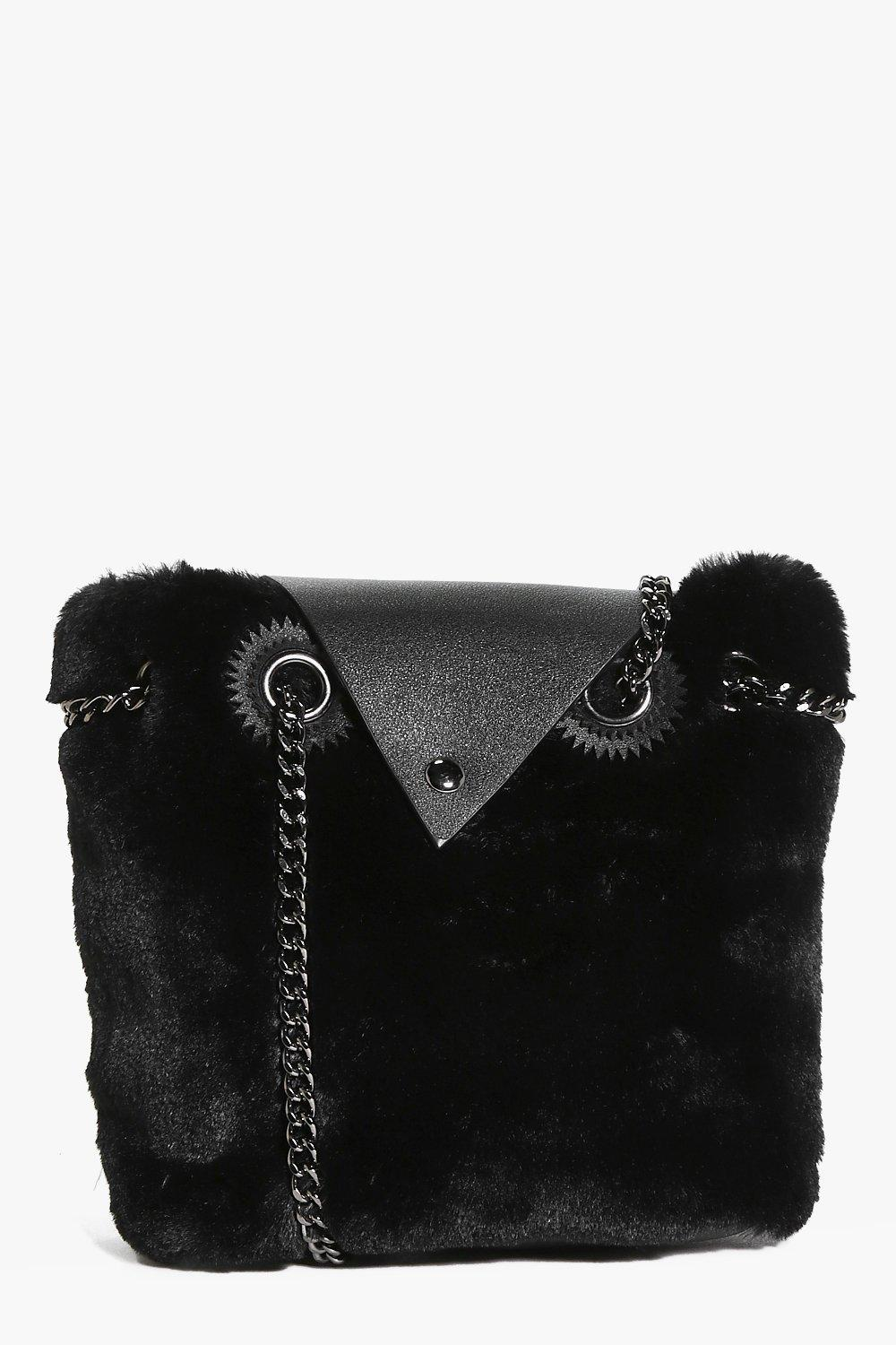 Ellie Faux Fur Envelope Front Cross Body