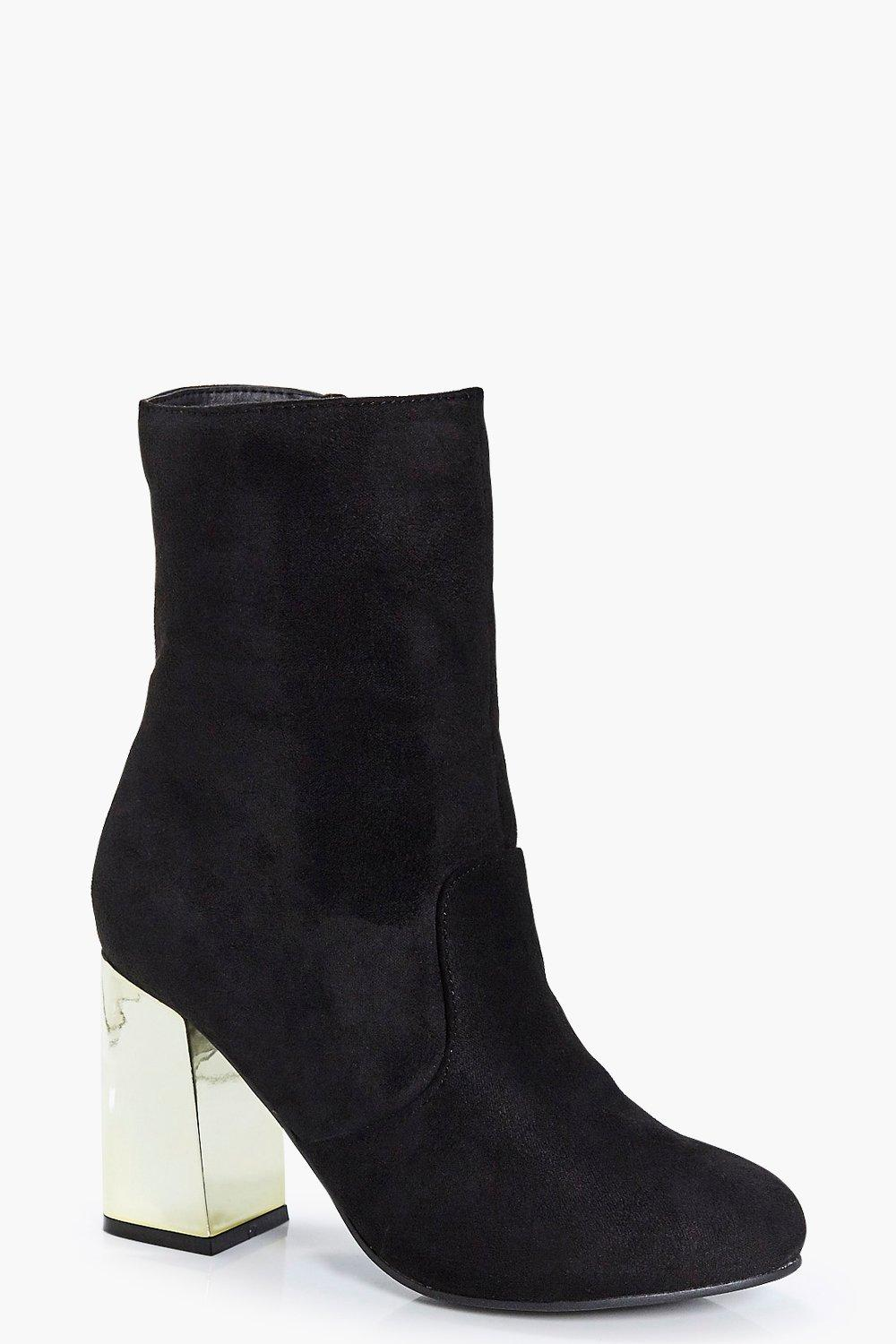 Orla Metallic Fluted Heel Sock Boot