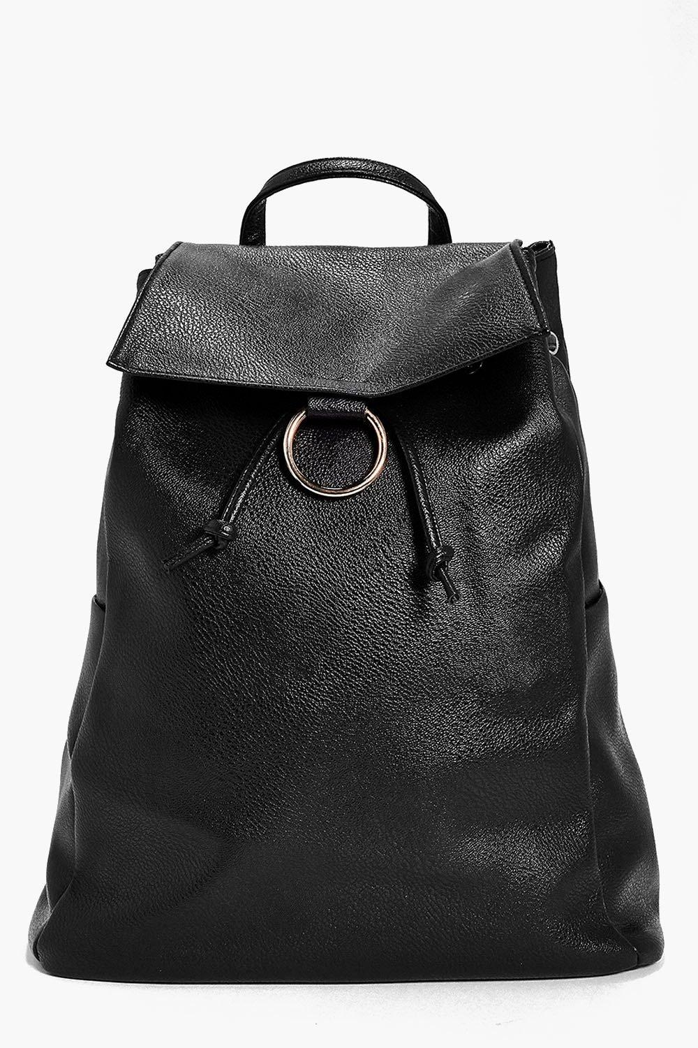 Violet Round Clasp Detail Backpack