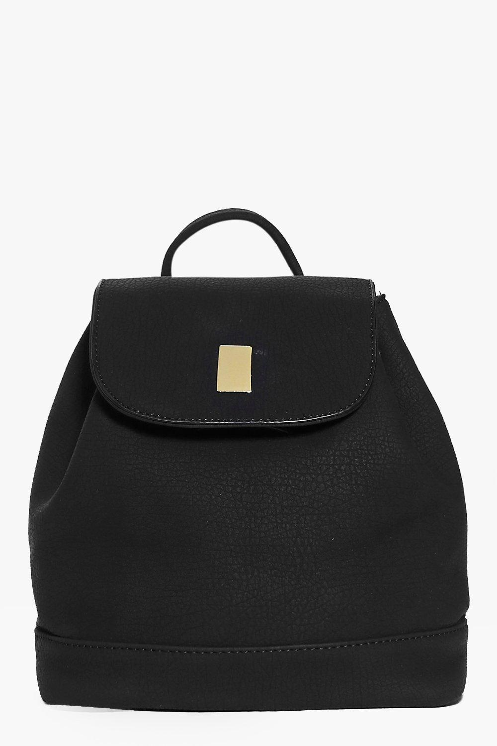 Florence Metal Plate Detail Backpack