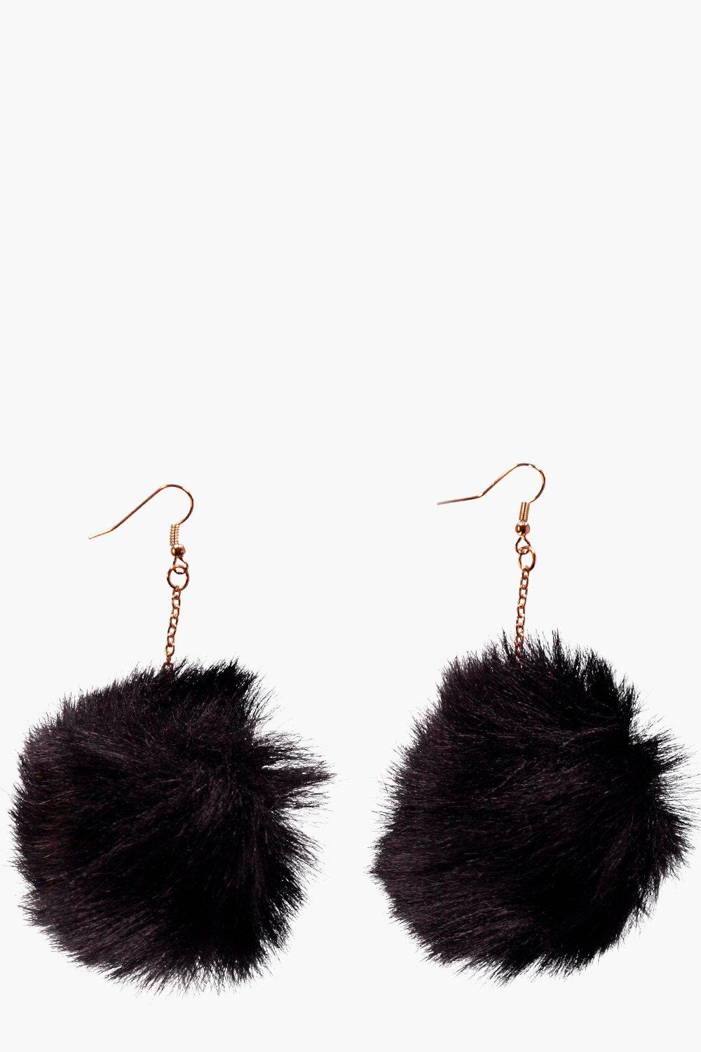 Laura Faux Fur Pom Pom Earrings