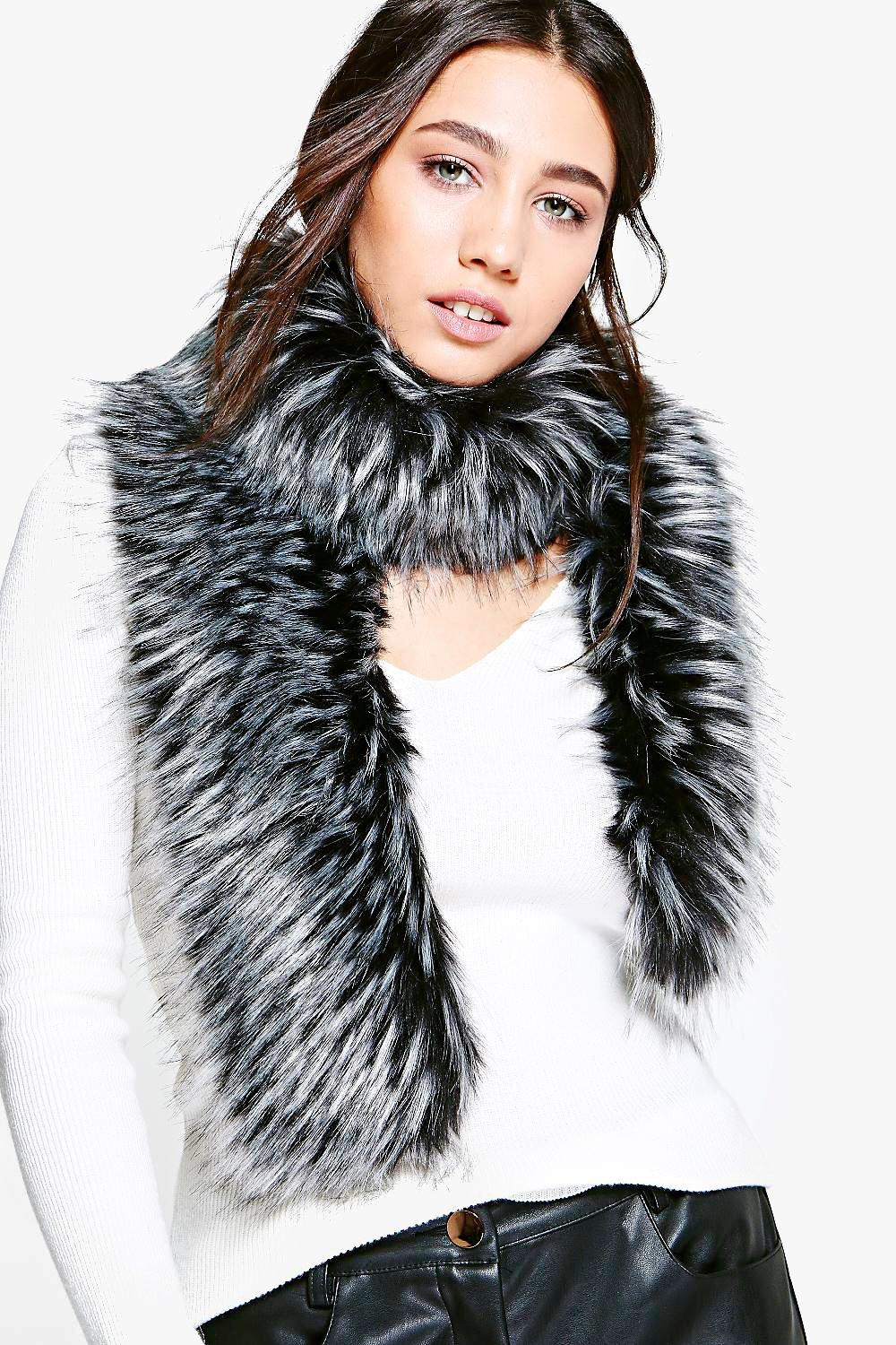 Zoe Tipped Faux Fur Scarf