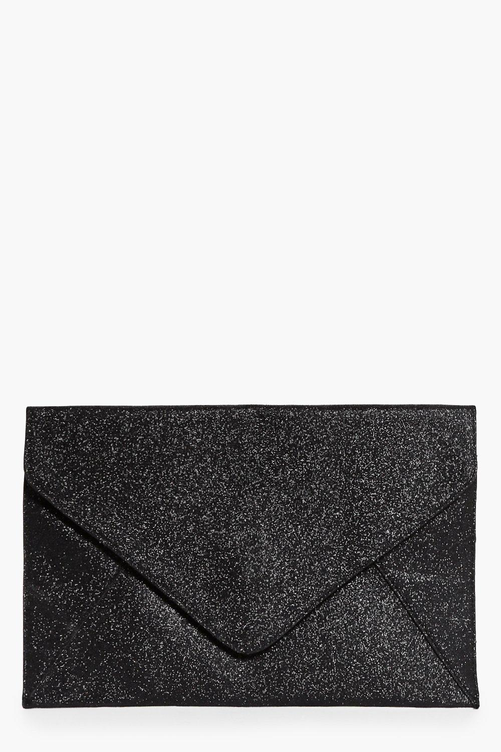 Lydia Glitter Envelope Clutch Bag