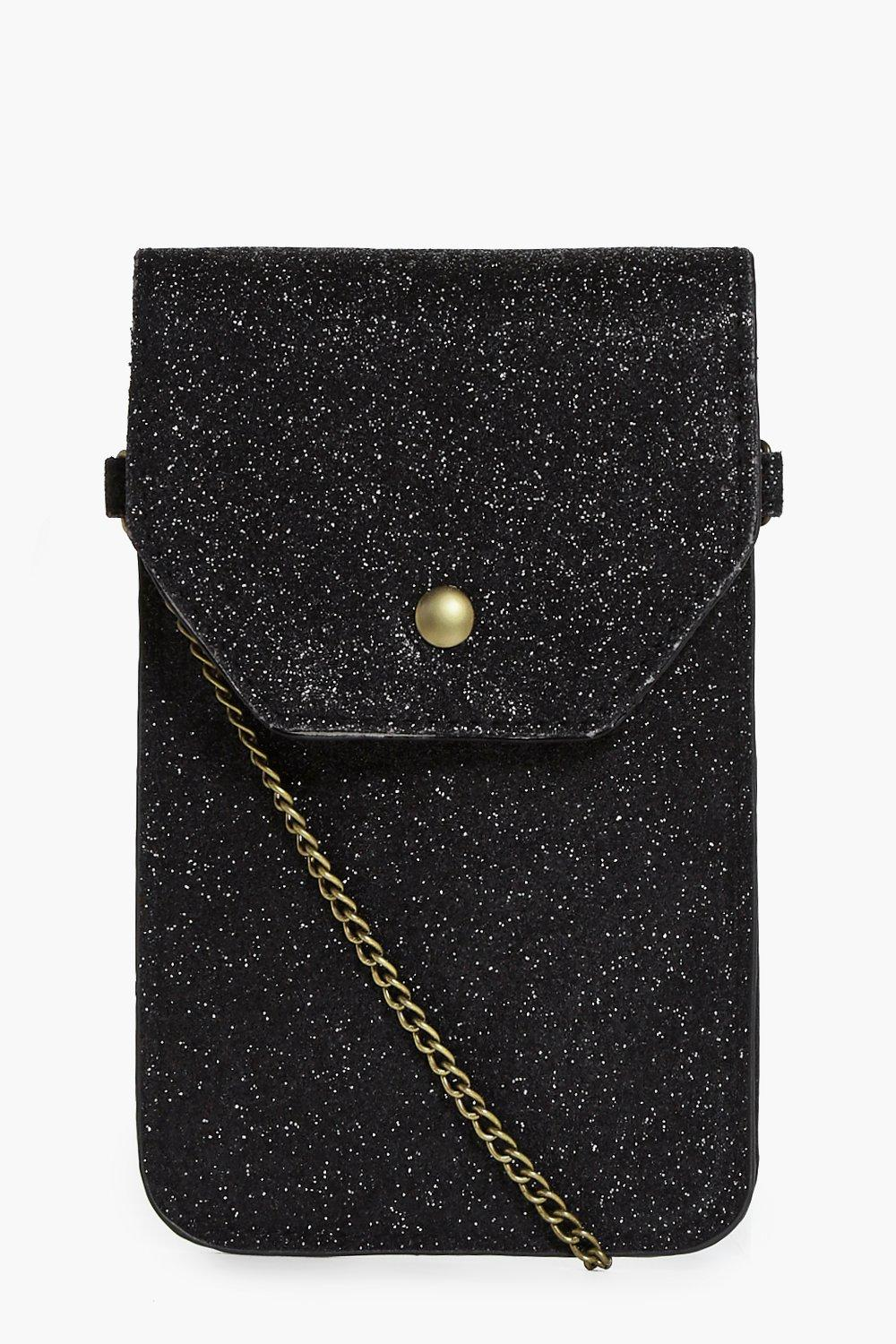 Amy Glitter Phone Cross Body Bag