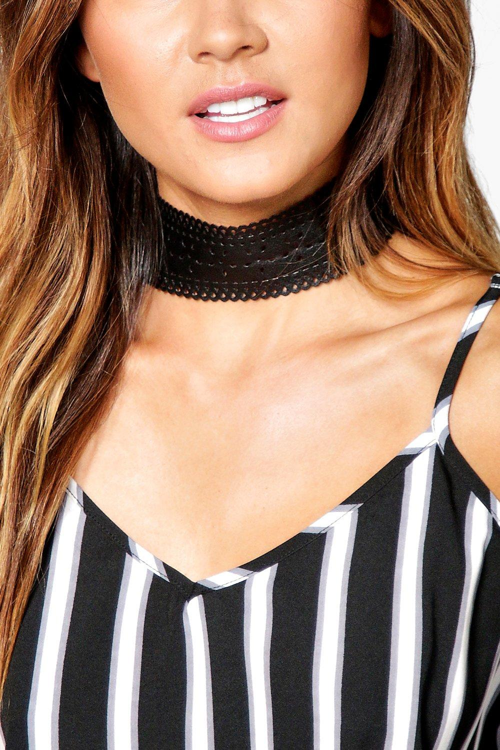 Orla Thicker Lazer Cut PU Choker