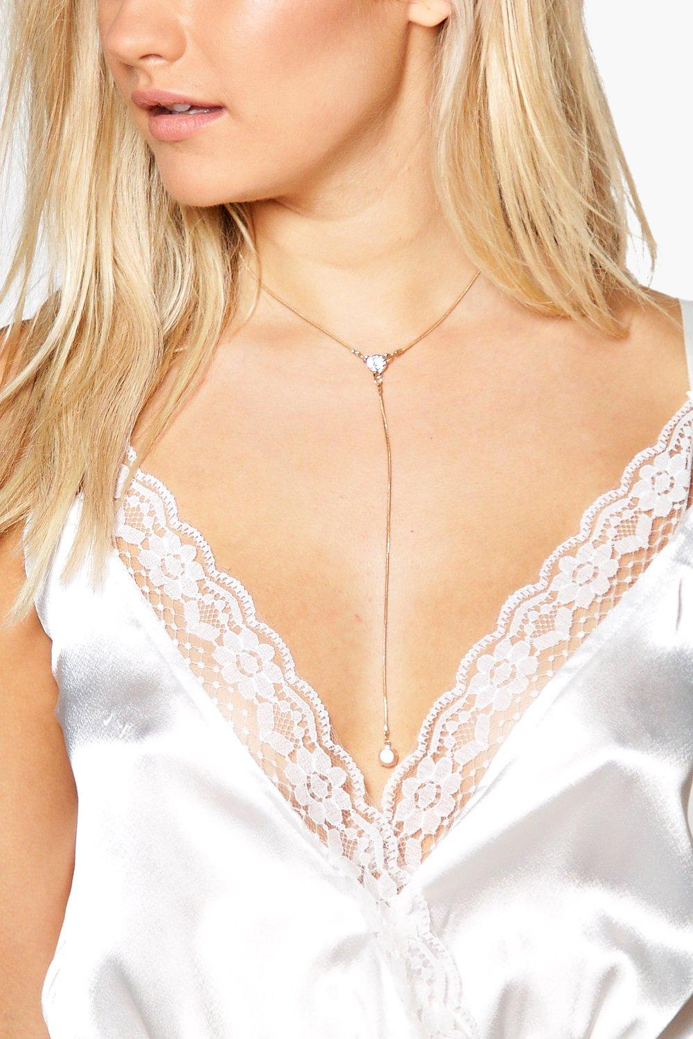 Hollie Diamante Plunge Choker