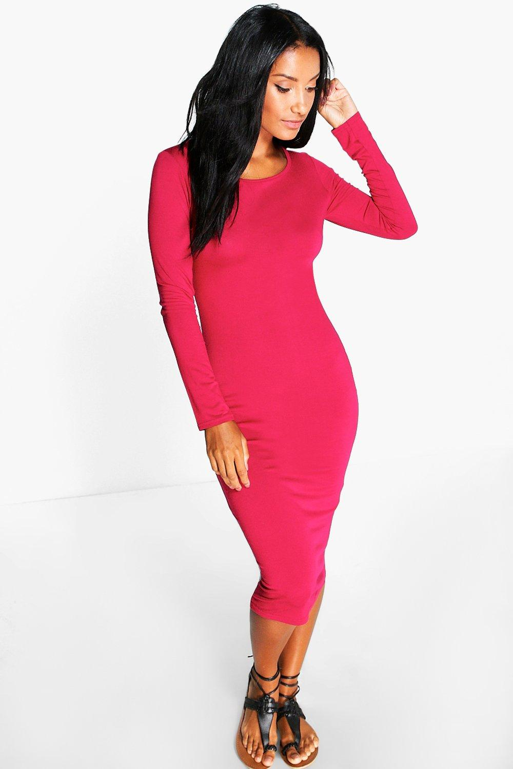 Marcelle Long Sleeved Midi Dress