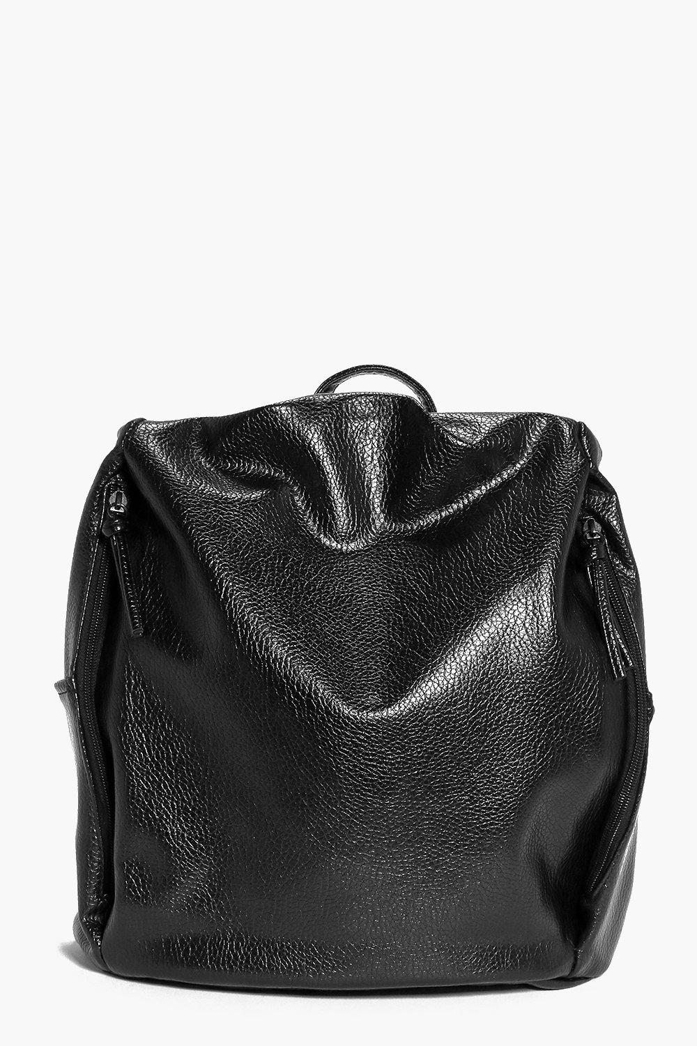 Emilia Simple Side Zip Backpack