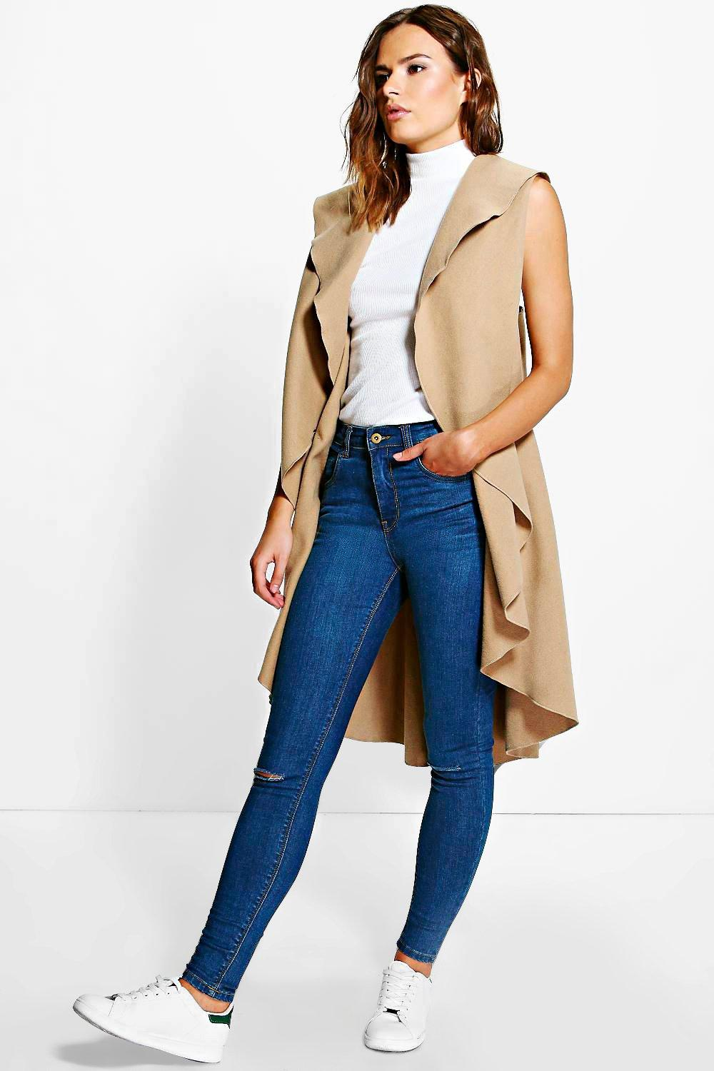 Millie Waterfall Sleeveless Coat