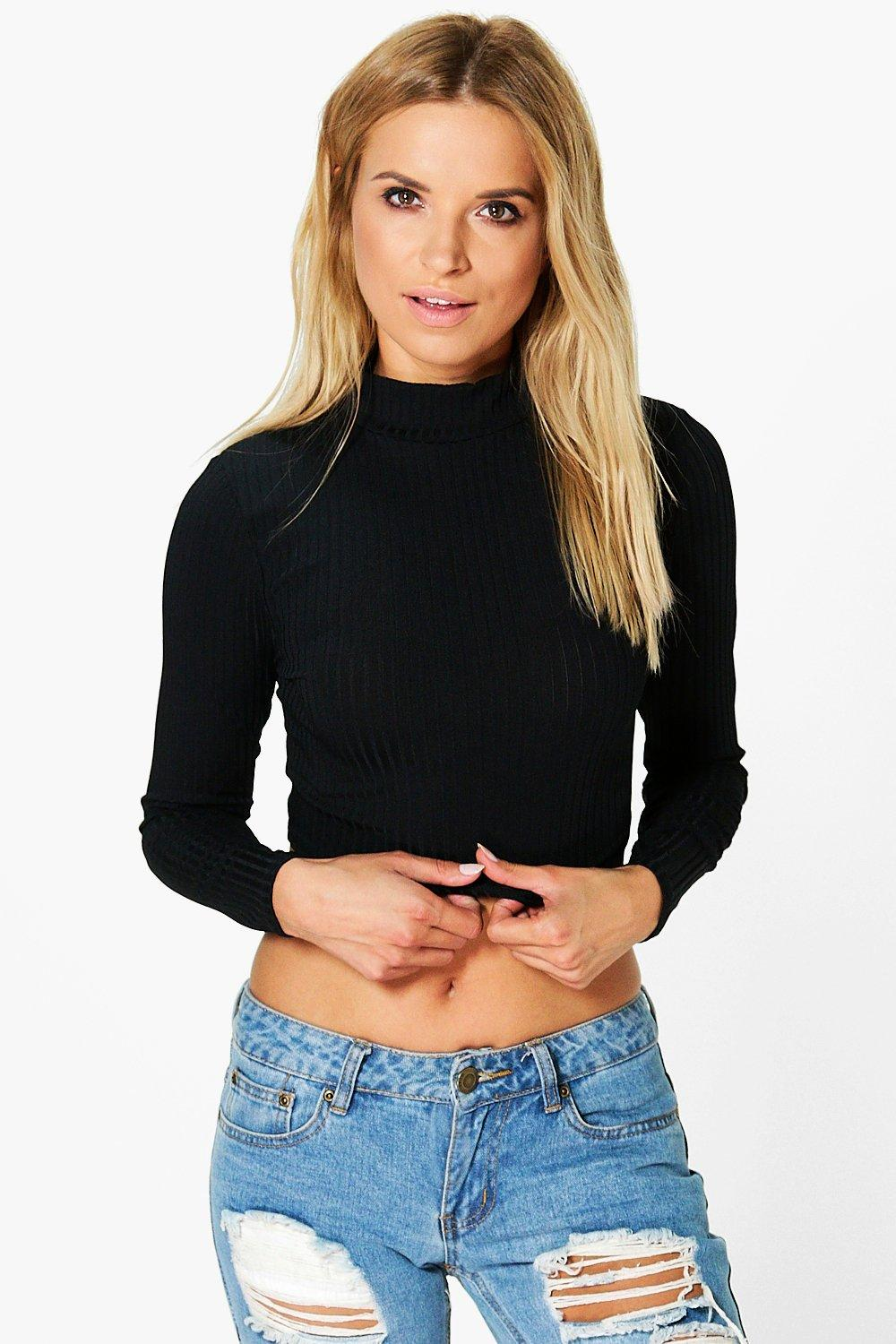 Julia Ribbed Roll Neck