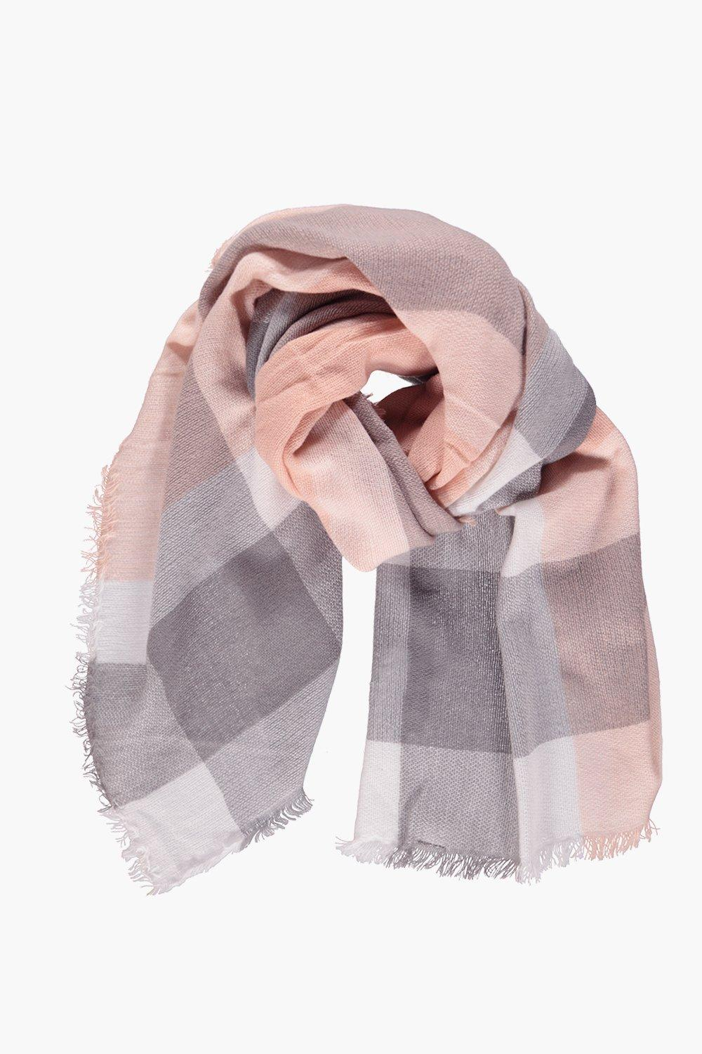 Lucie Check Oversized Wrap Scarf