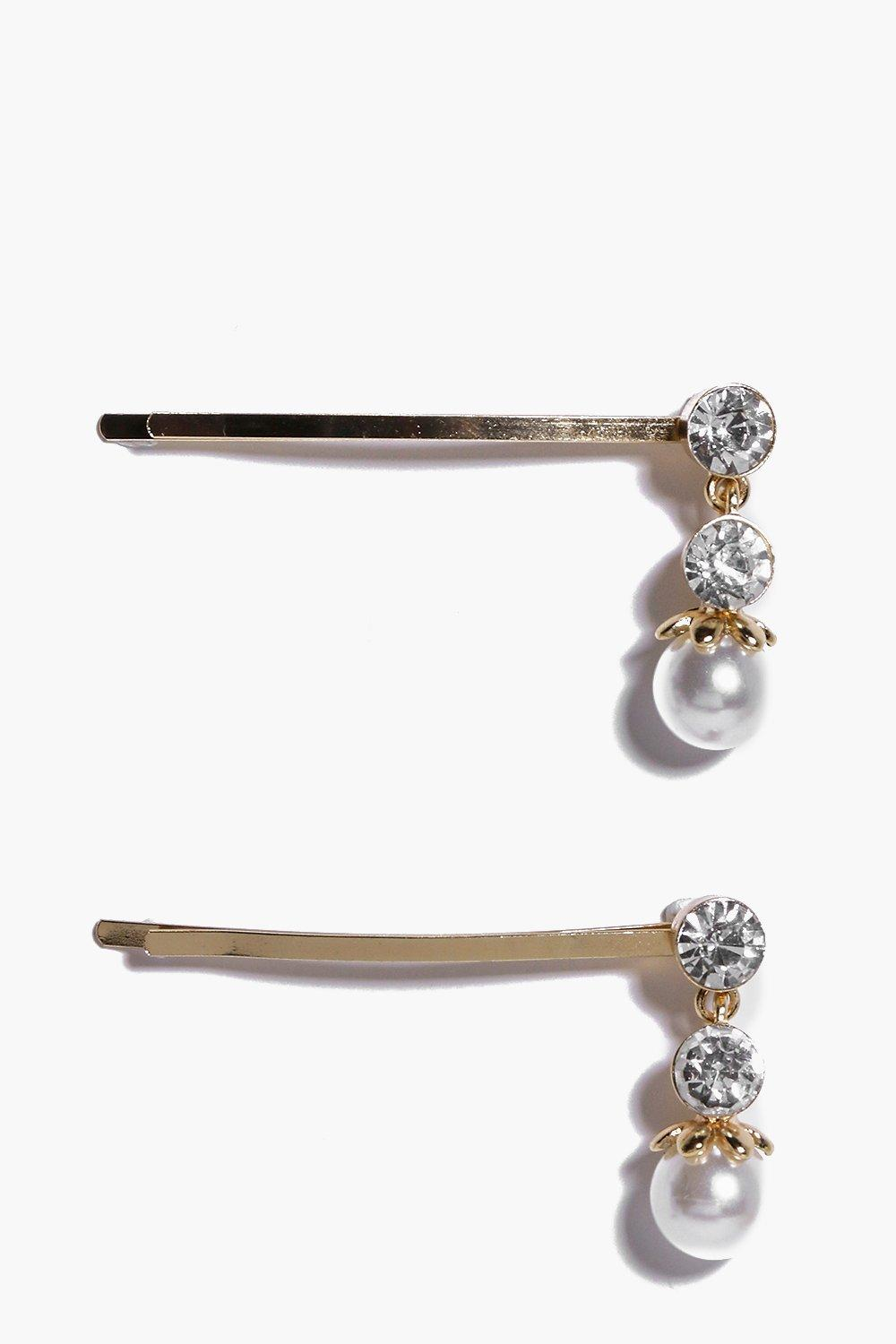 Grace Diamante And Pearl Hair Clip Pack