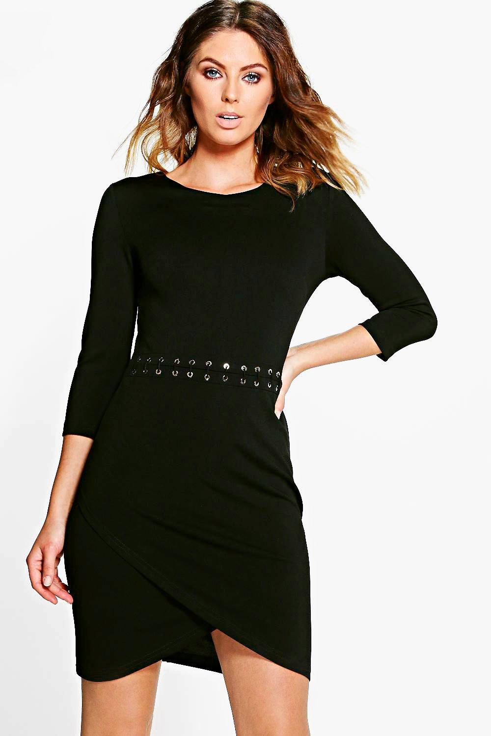 Natasha Lace Up Bodycon Dress