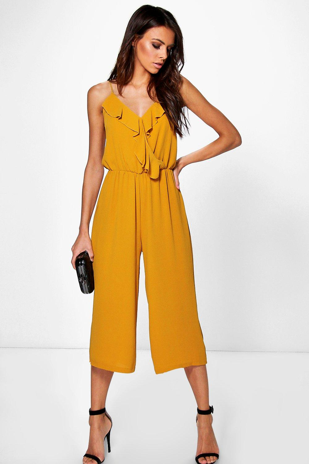 Lucy Ruffle Wrap Over Jumpsuit
