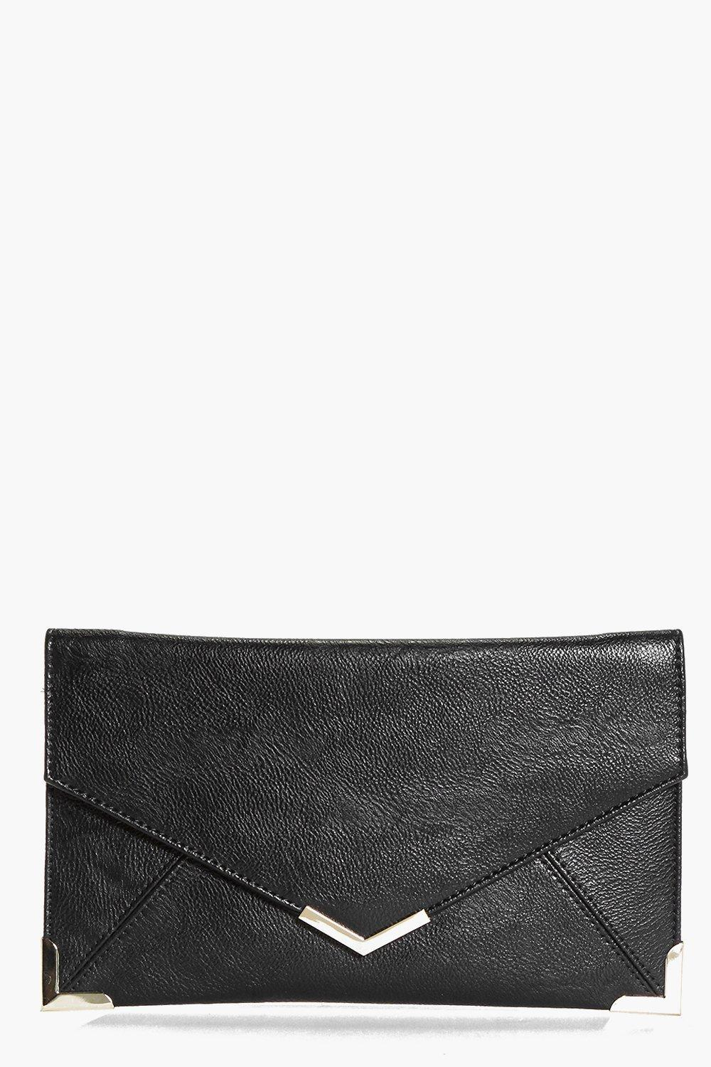 Rosie Metal Corner Envelope Clutch