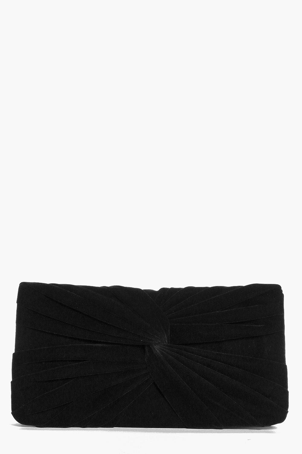 Emily Faux Suede Knot Detail Clutch