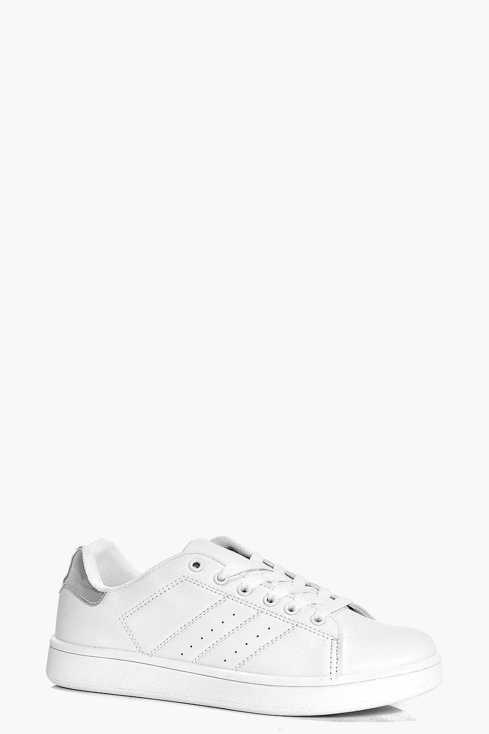 Leila Lace Up Contrast Back Trainer