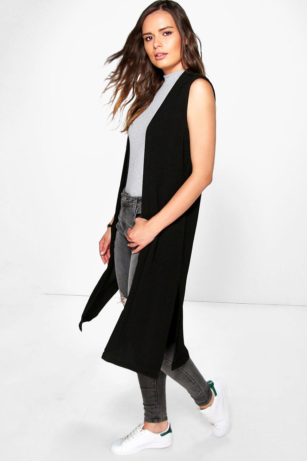 Lauren Sleeveless Side Split Duster