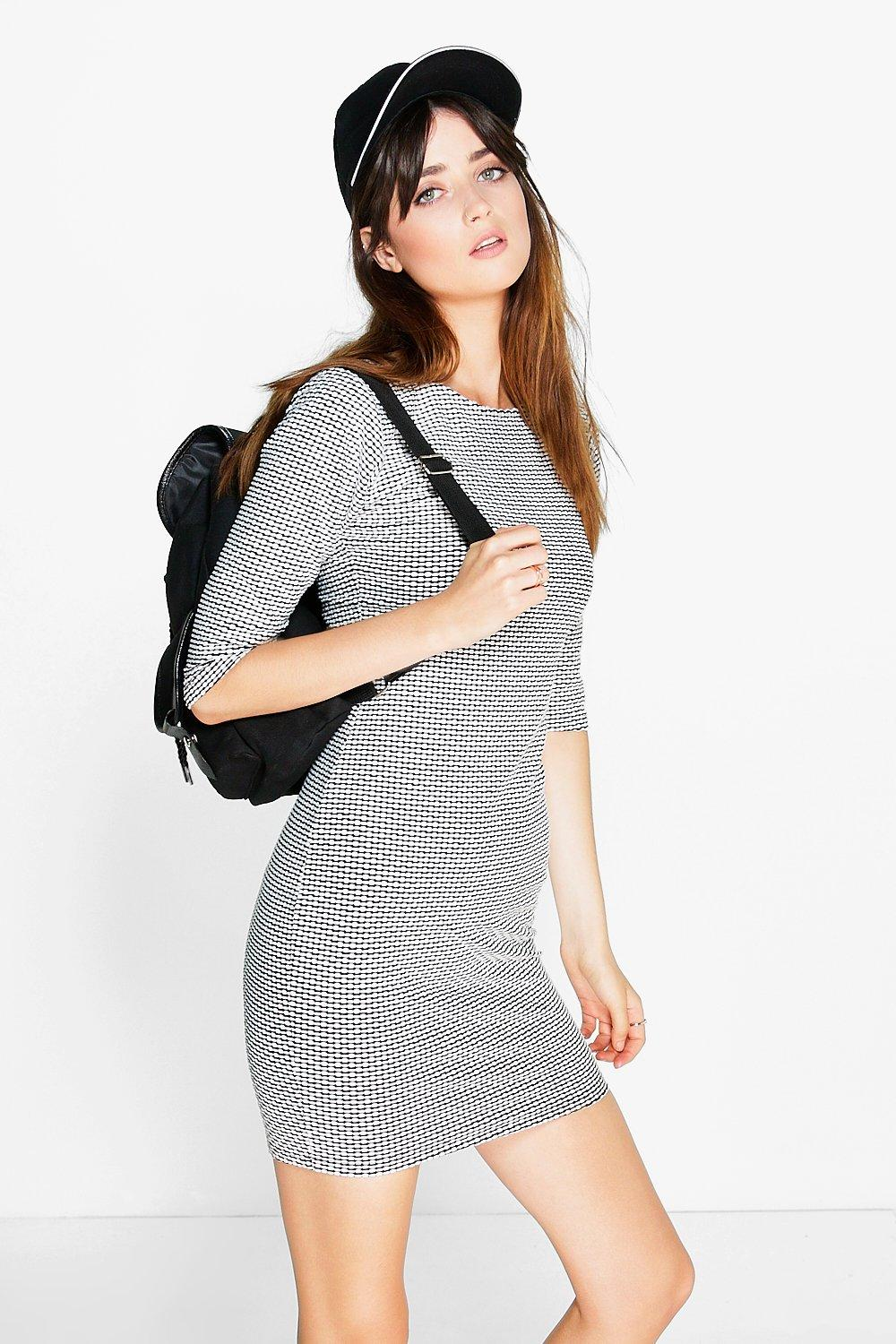 Marnie Spot 3/4 Bodycon Dress