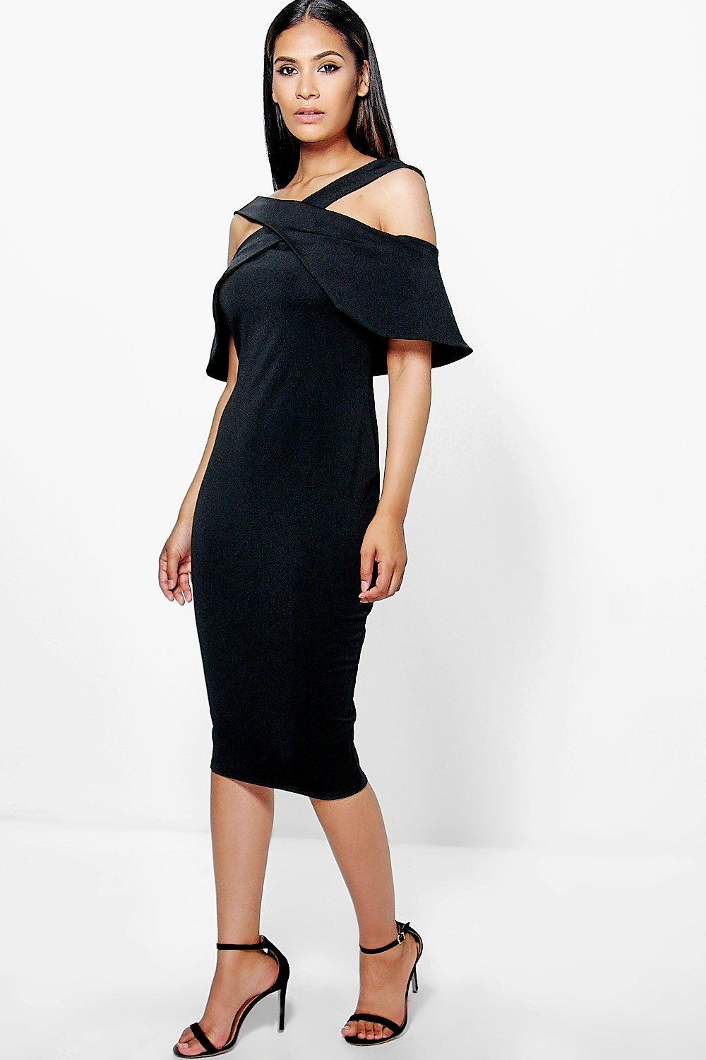Tia Oversized Cold Shoulder Bodycon Dress