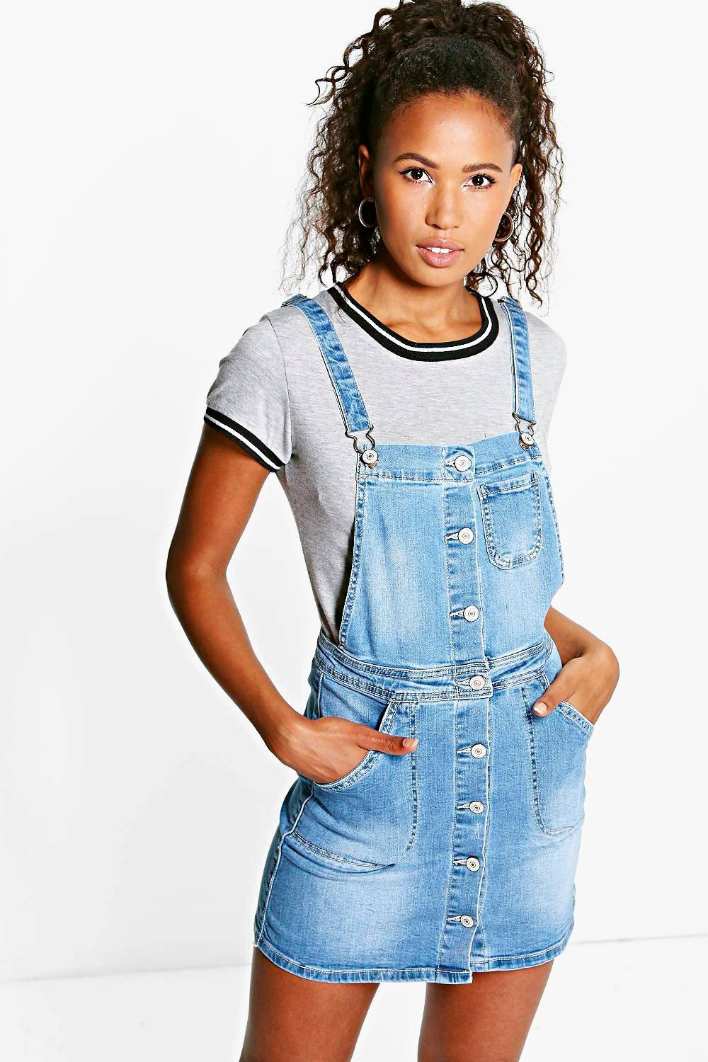 Sophie Denim Dungaree Dress